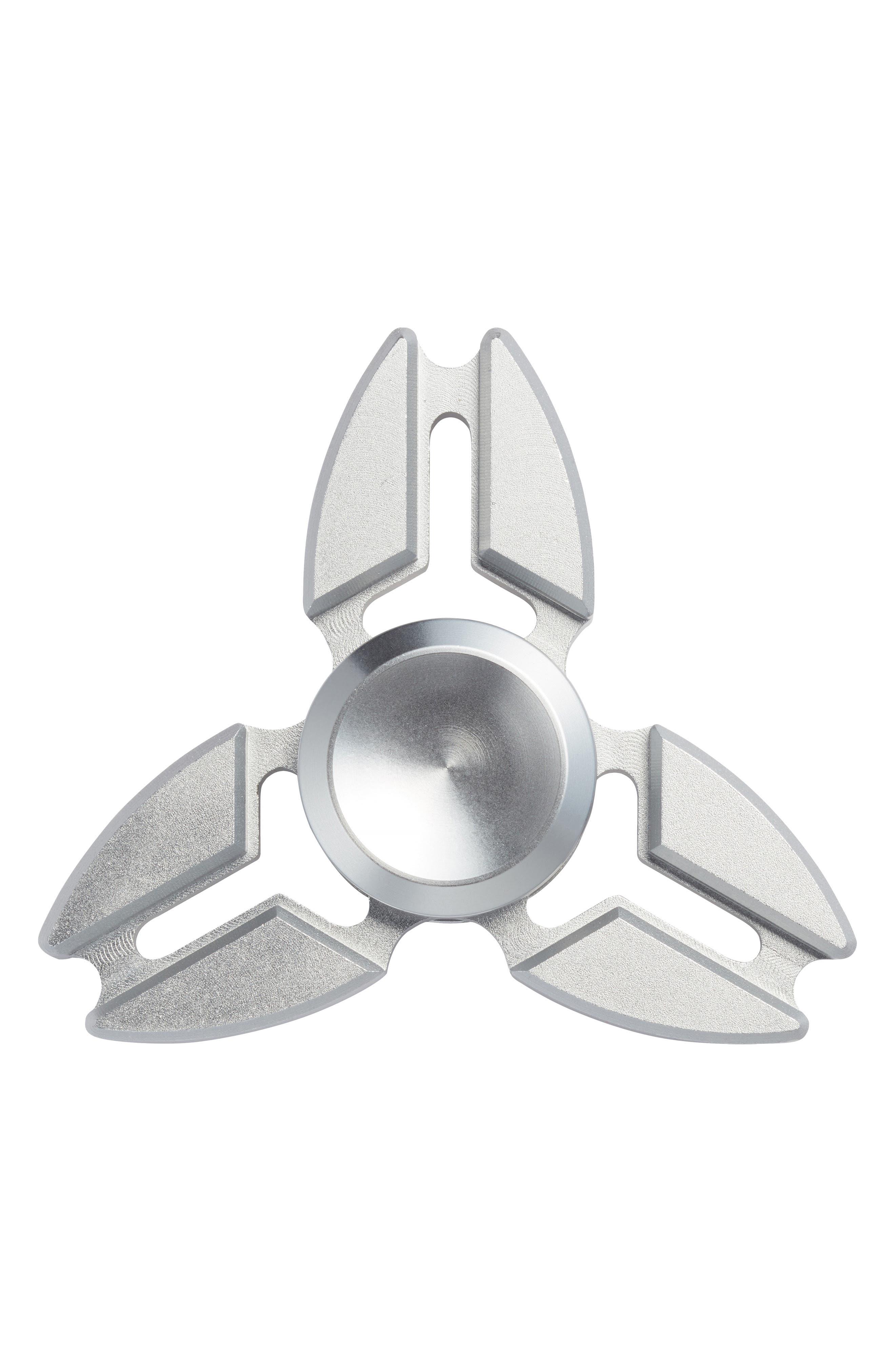 Addictive Fidget Toys Coulee Tri Bar Fidget Spinner,                         Main,                         color, Silver