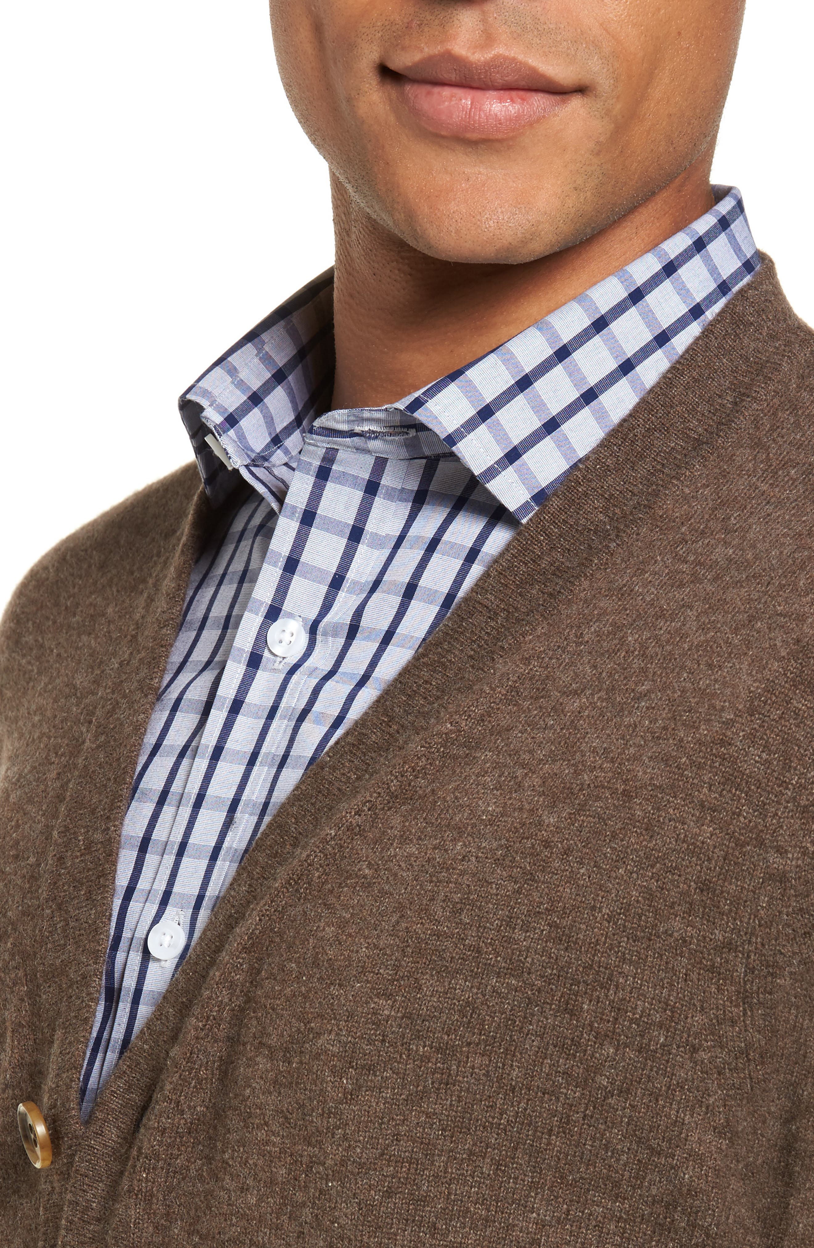 Alternate Image 4  - Nordstrom Men's Shop Cashmere Button Front Cardigan