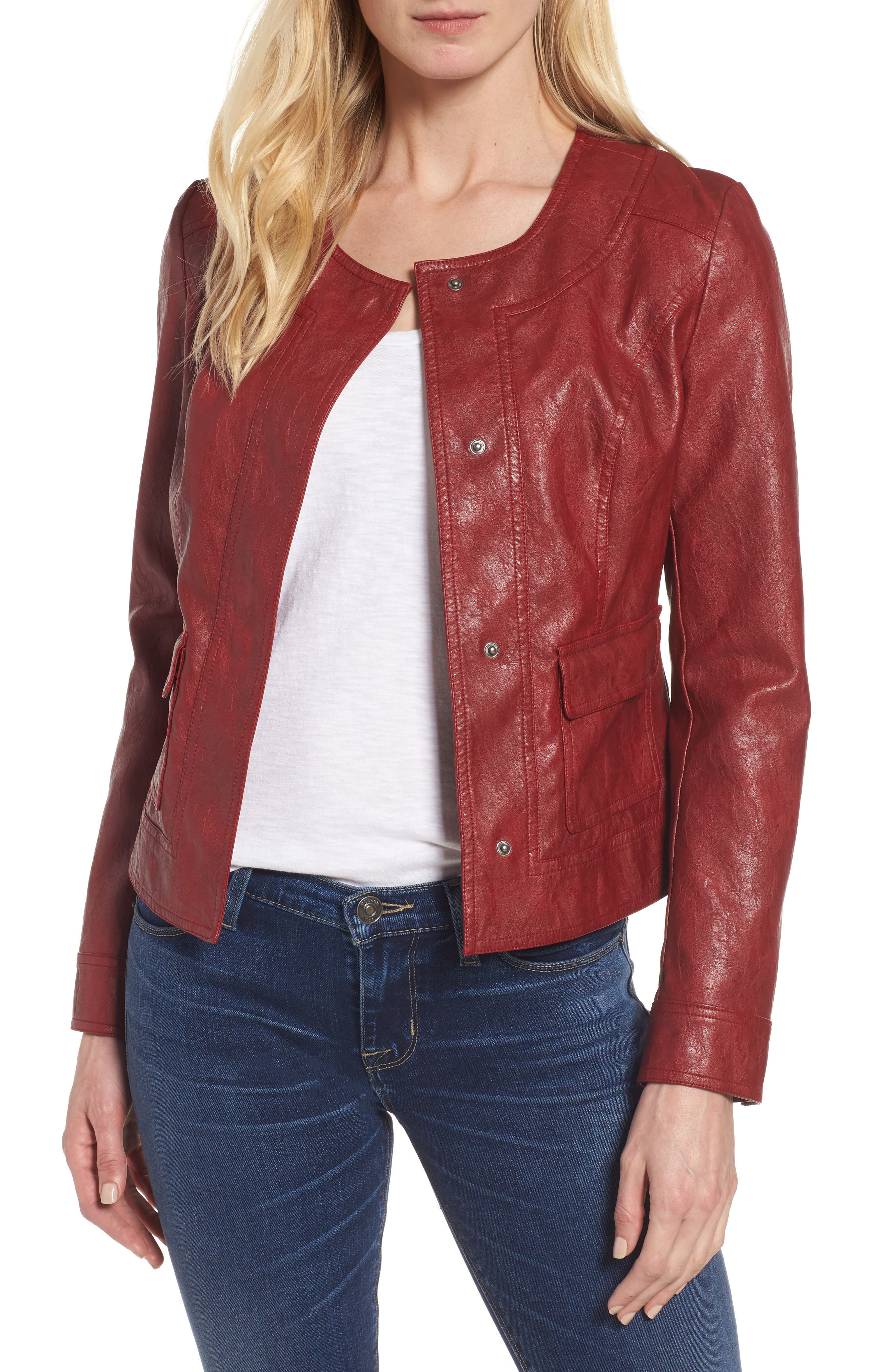 KUT from the Kloth Ainsley Faux Leather Jacket