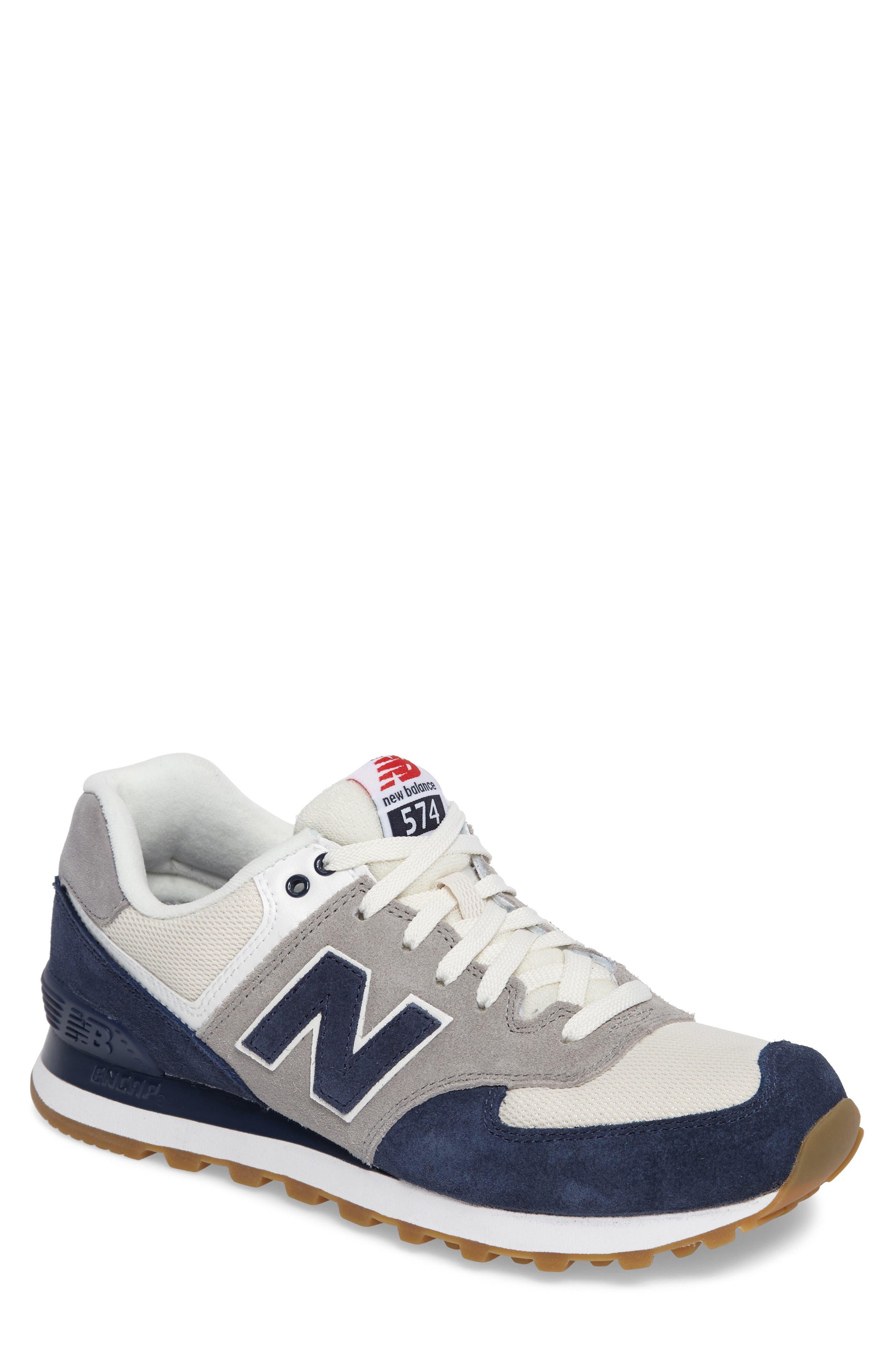 574 Retro Sport Sneaker,                             Main thumbnail 1, color,                             Electric Blue