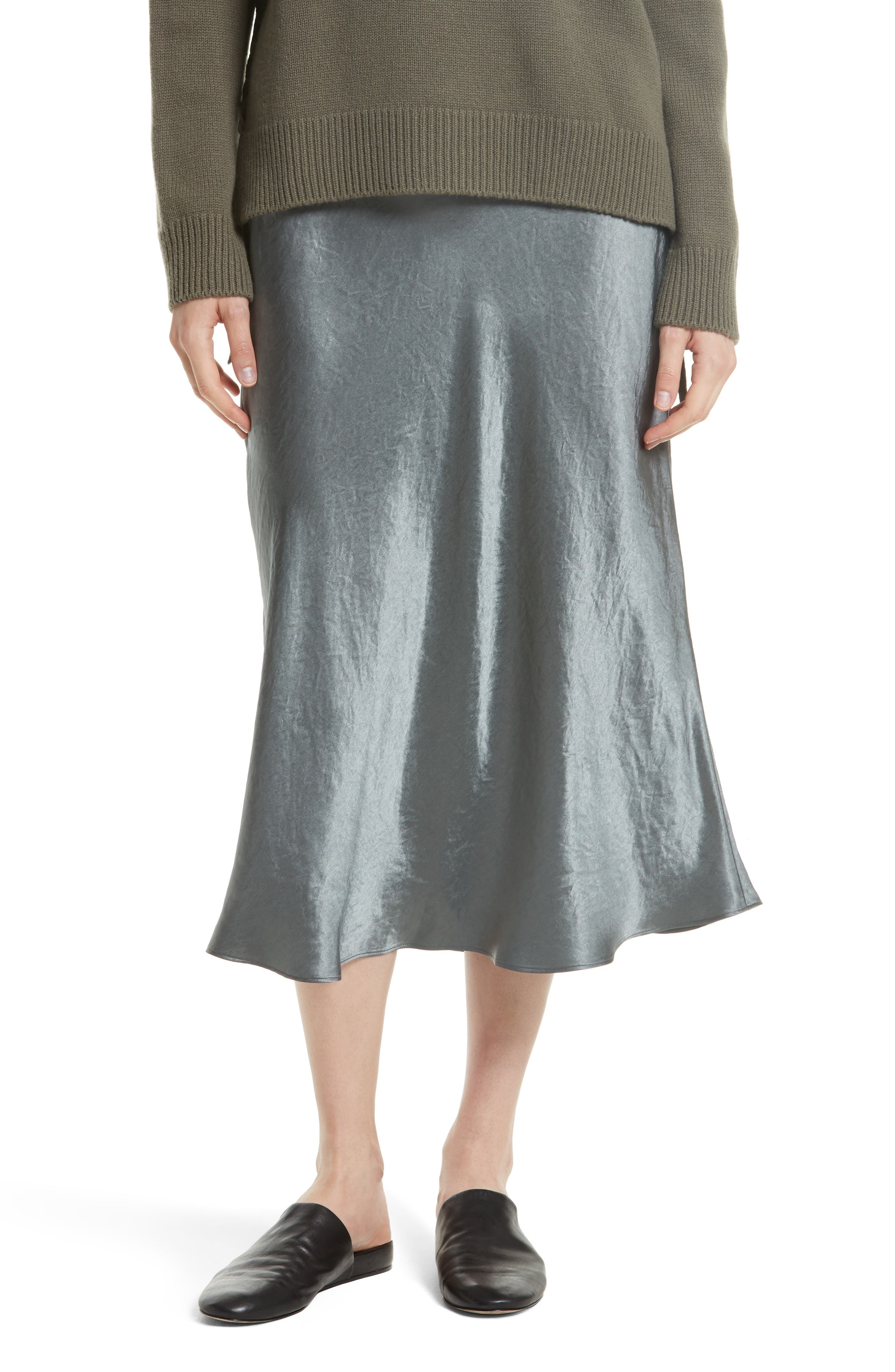 Alternate Image 1 Selected - Vince Elastic Waist Slip Skirt