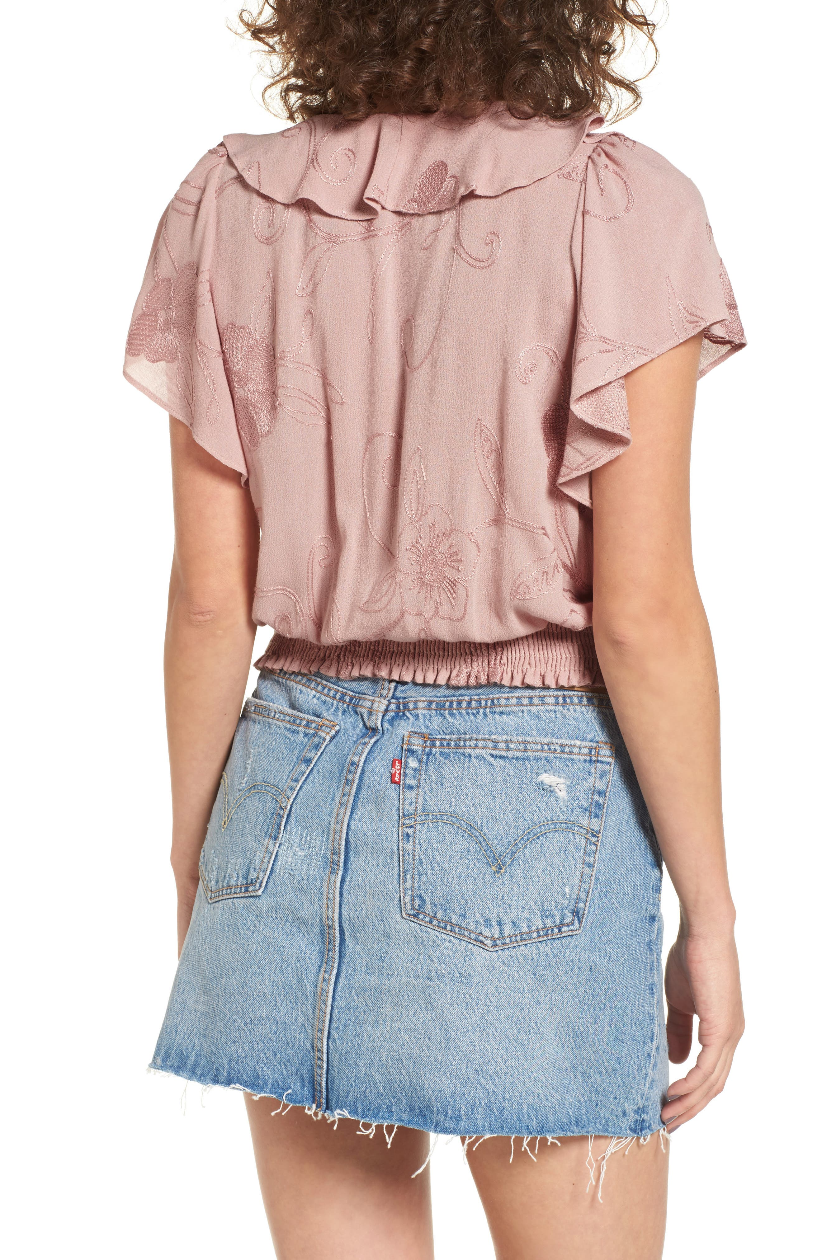 Alternate Image 2  - ASTR the Label Ruffle Top