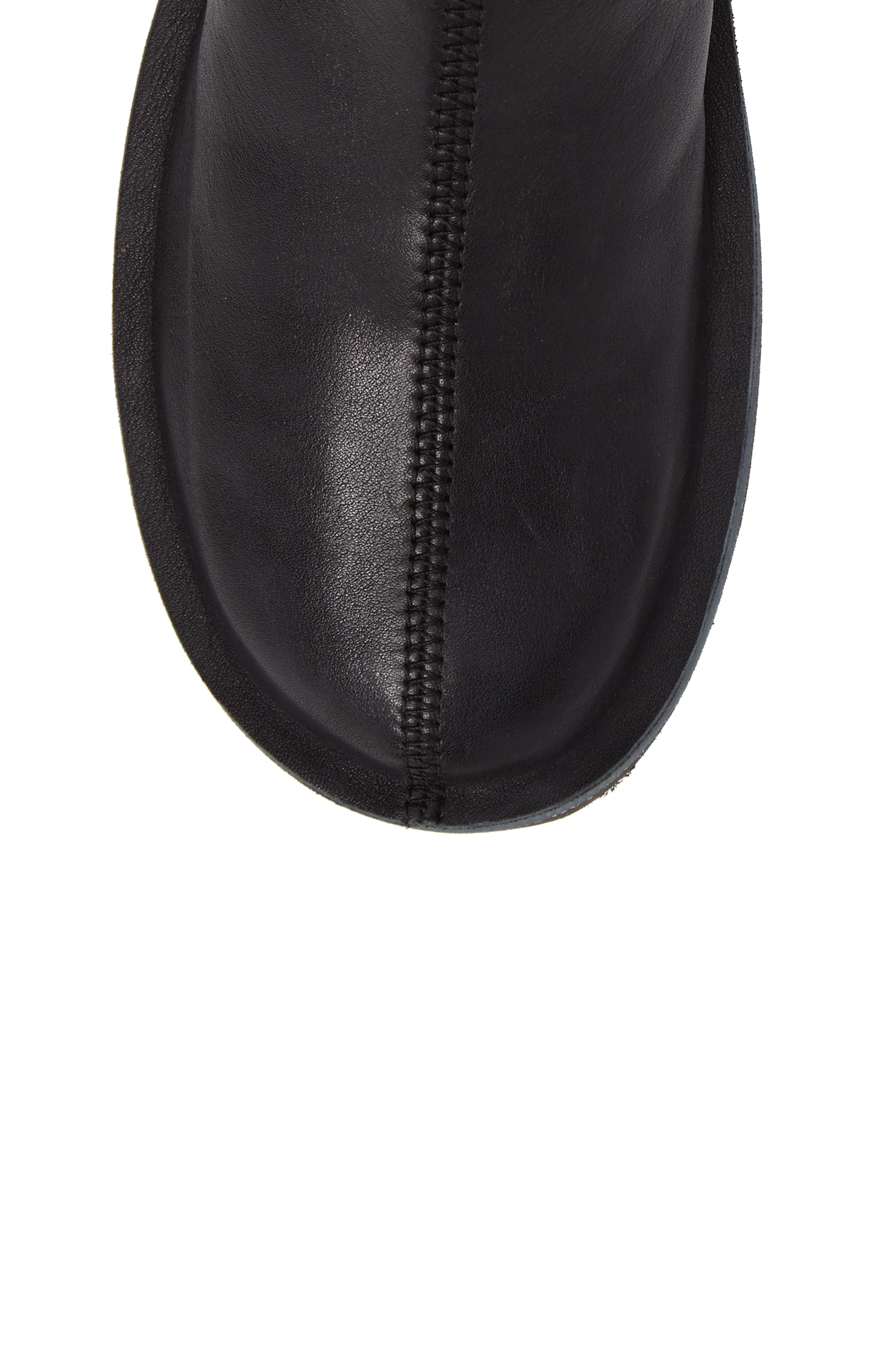 'Beetle' Ankle Bootie,                             Alternate thumbnail 5, color,                             Black Leather