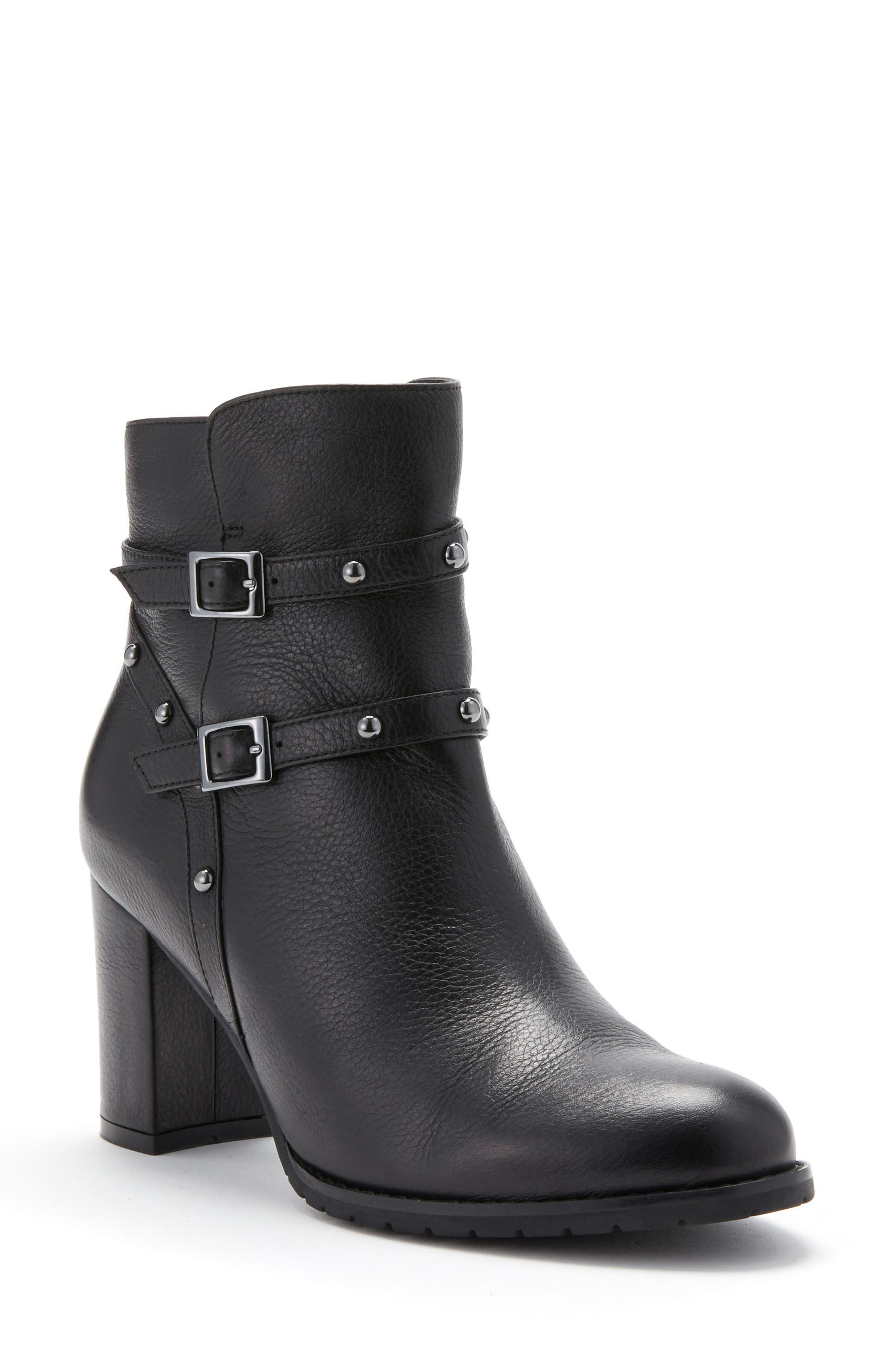 Analise Waterproof Boot,                         Main,                         color, Black Leather