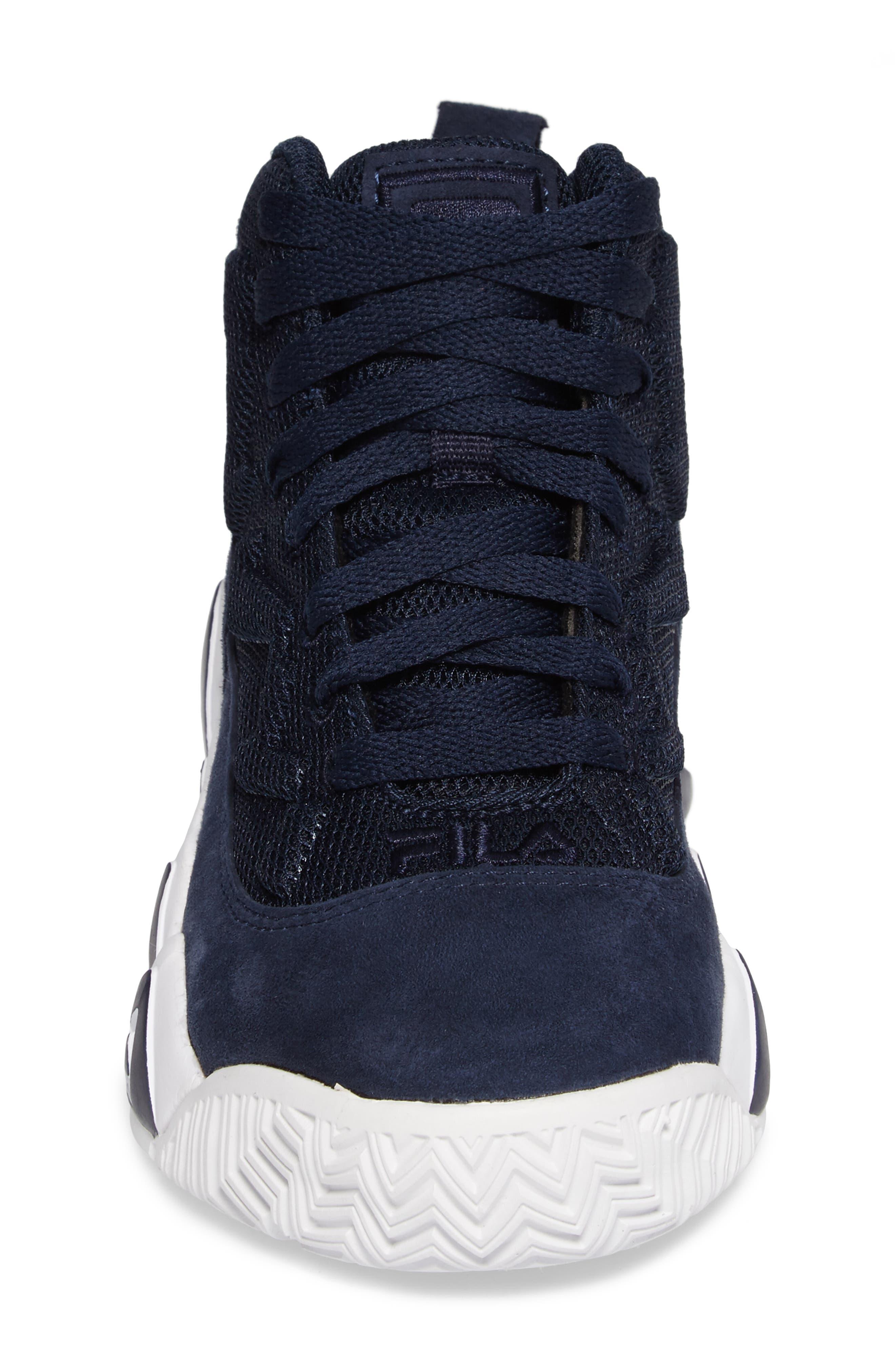MB Mesh Sneaker,                             Alternate thumbnail 4, color,                             Navy/ White