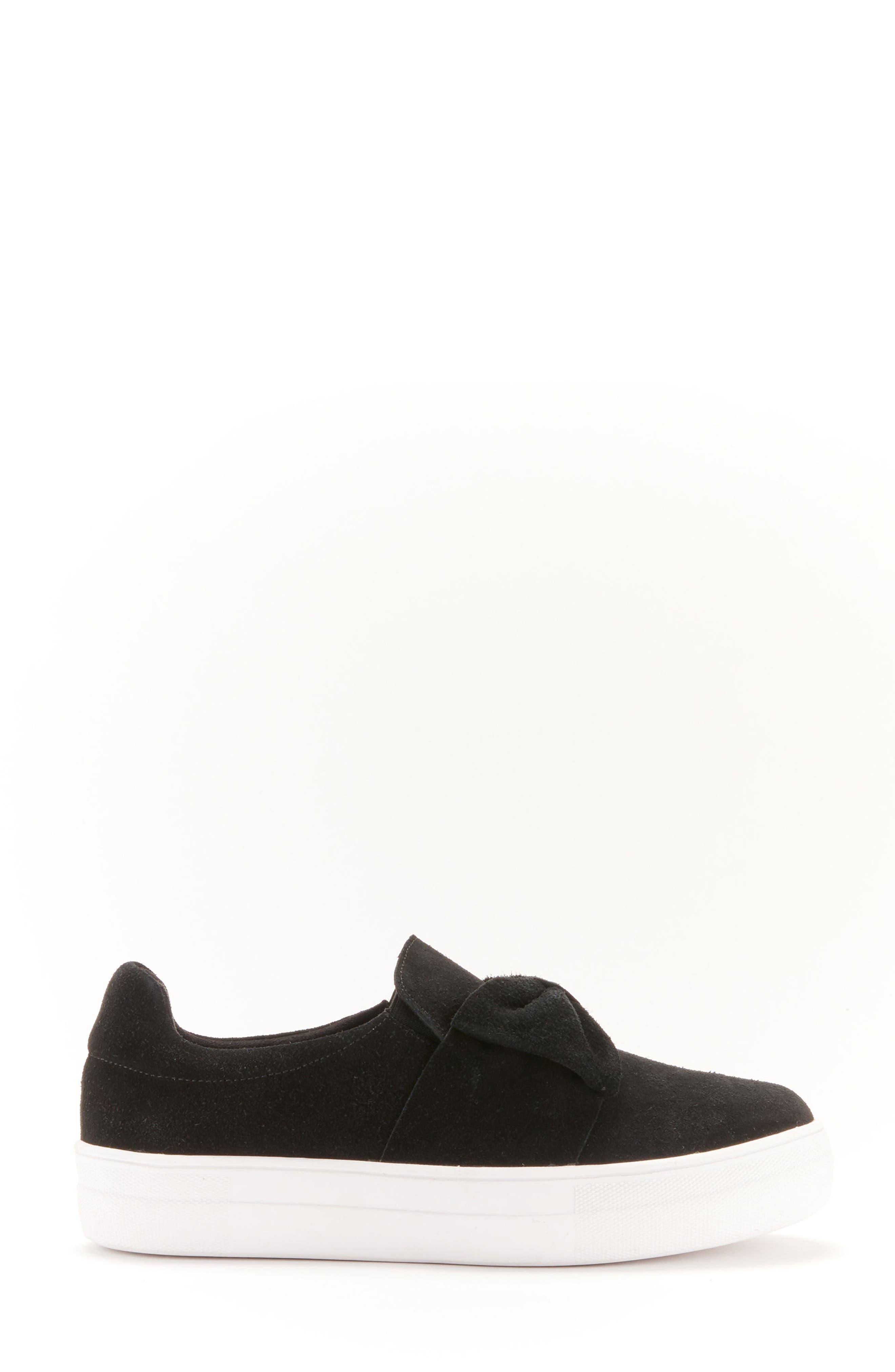 Gigi Sneaker,                             Alternate thumbnail 3, color,                             Black Suede