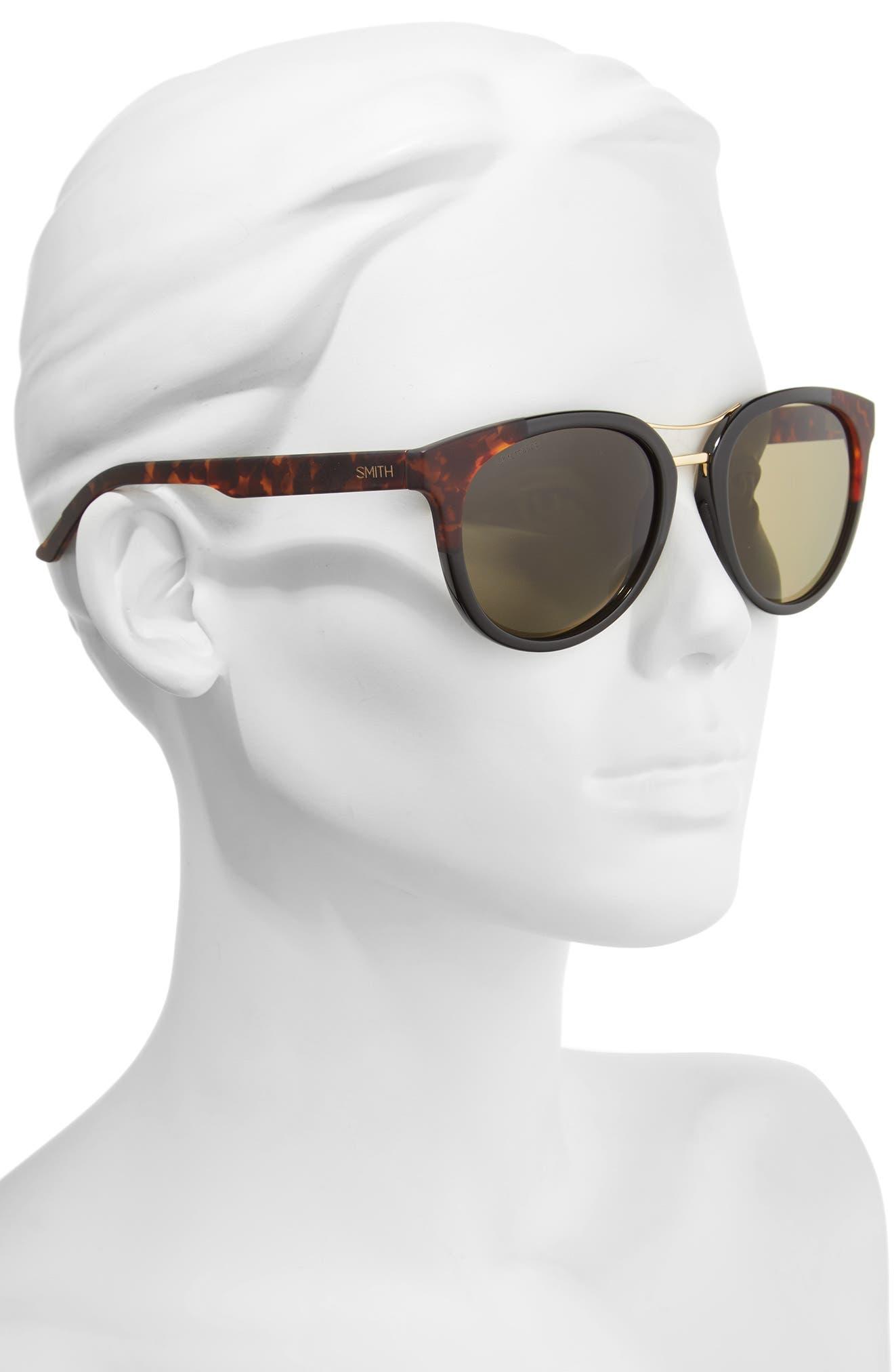 Bridgetown ChromaPop 54mm Polarized Sunglasses,                             Alternate thumbnail 2, color,                             Black/ Havana Block