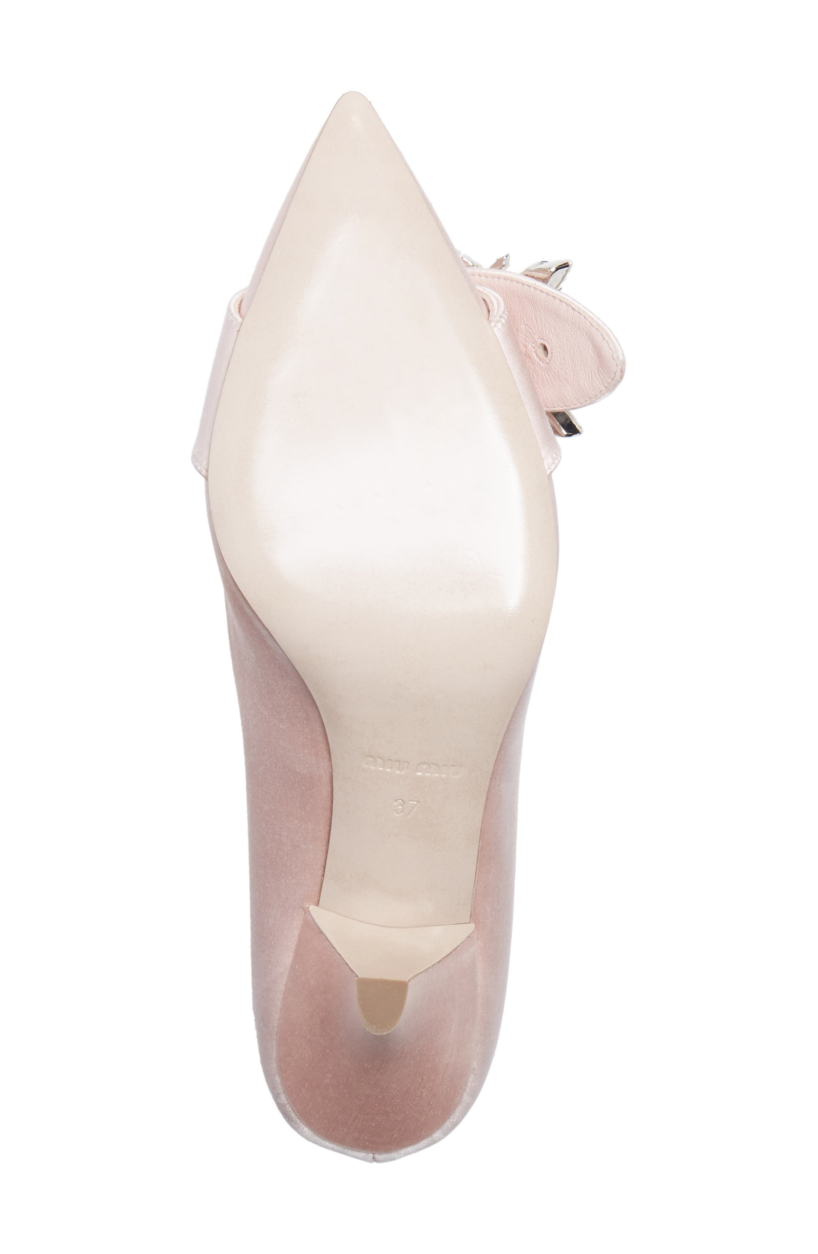 Crystal Buckle Pump,                             Alternate thumbnail 6, color,                             Pink Satin