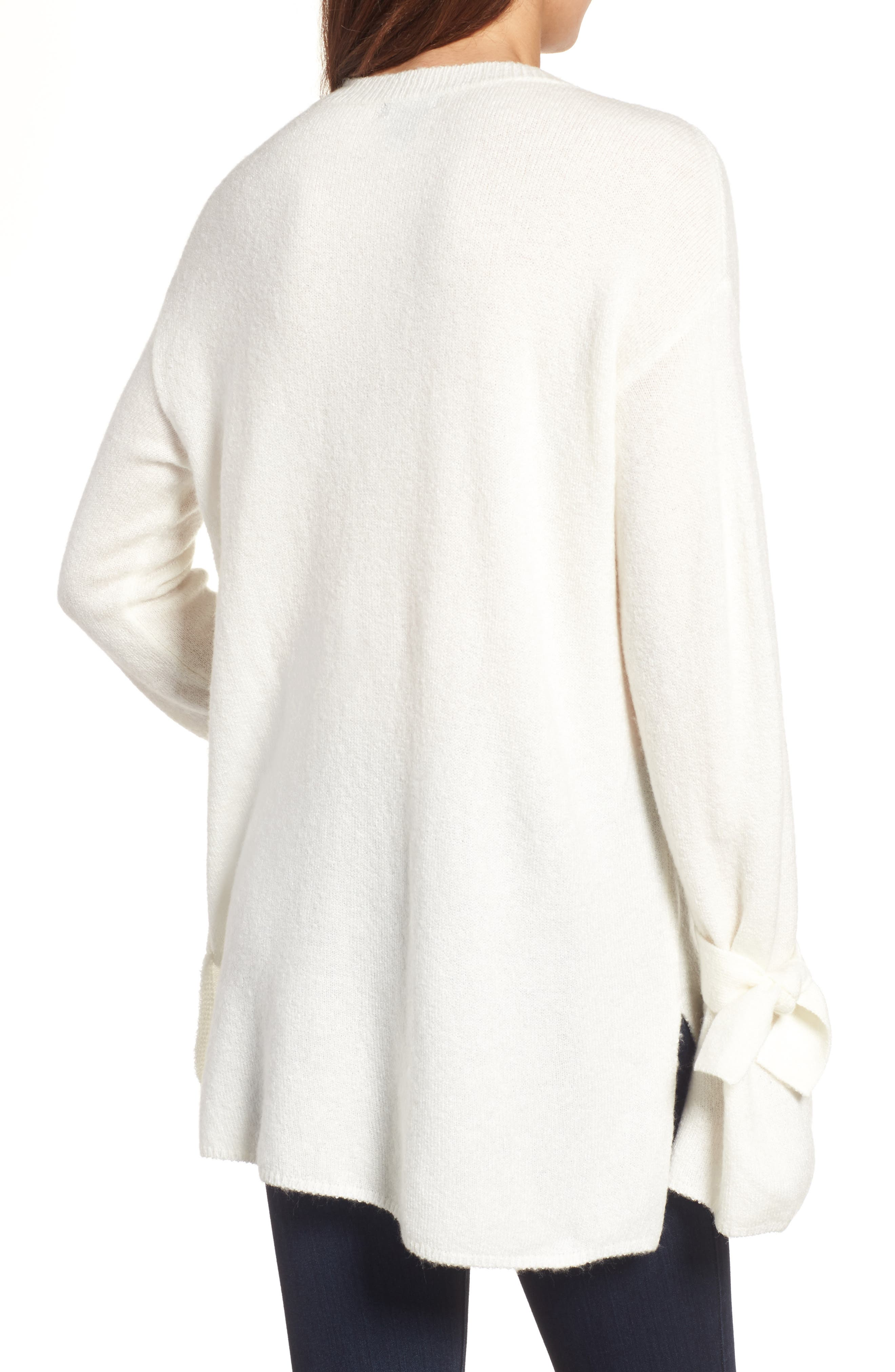 Alternate Image 2  - Halogen® Tie Bell Sleeve Sweater (Regular & Petite)