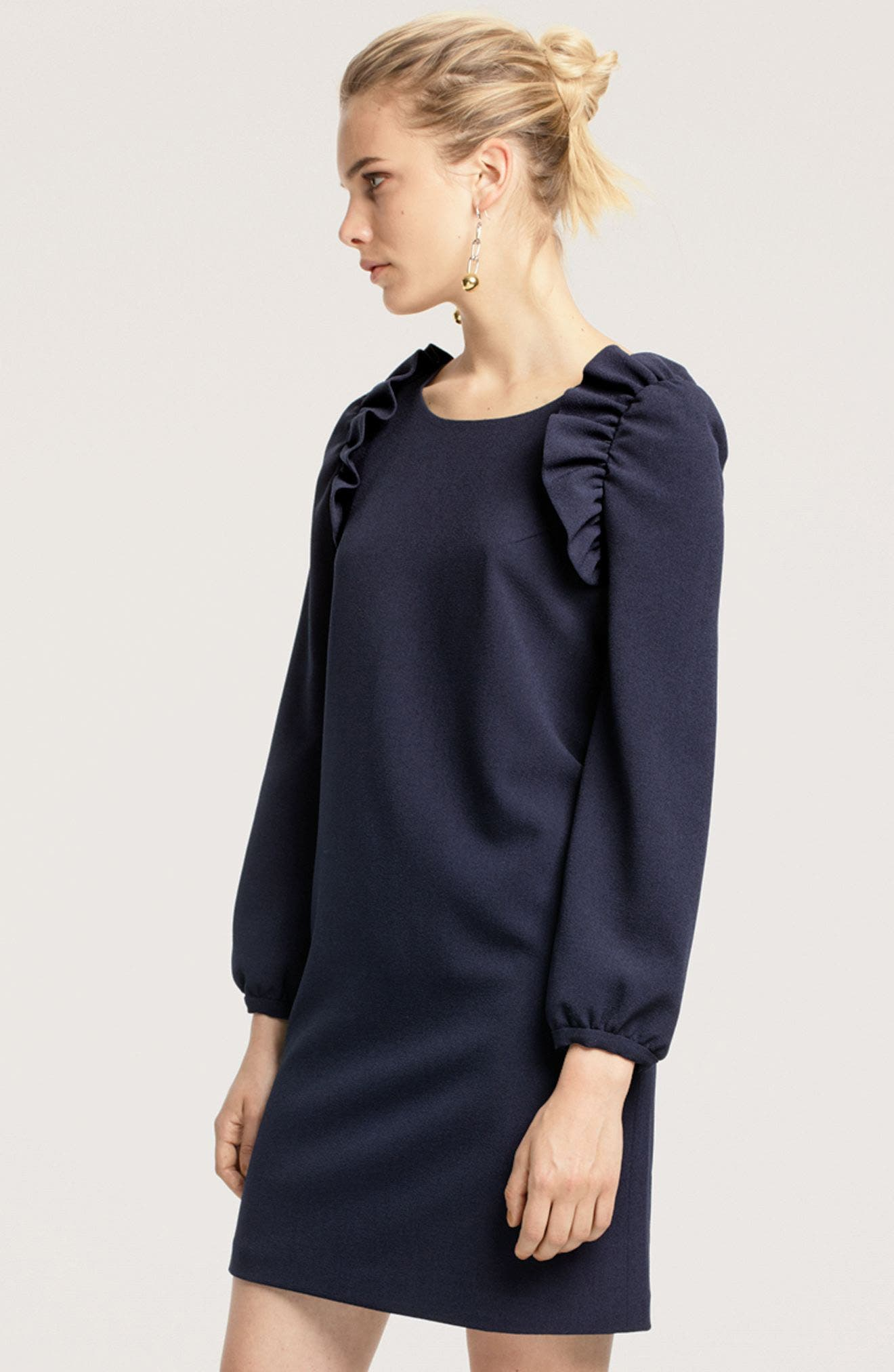 Alternate Image 7  - Chelsea28 Shoulder Ruffle Shift Dress