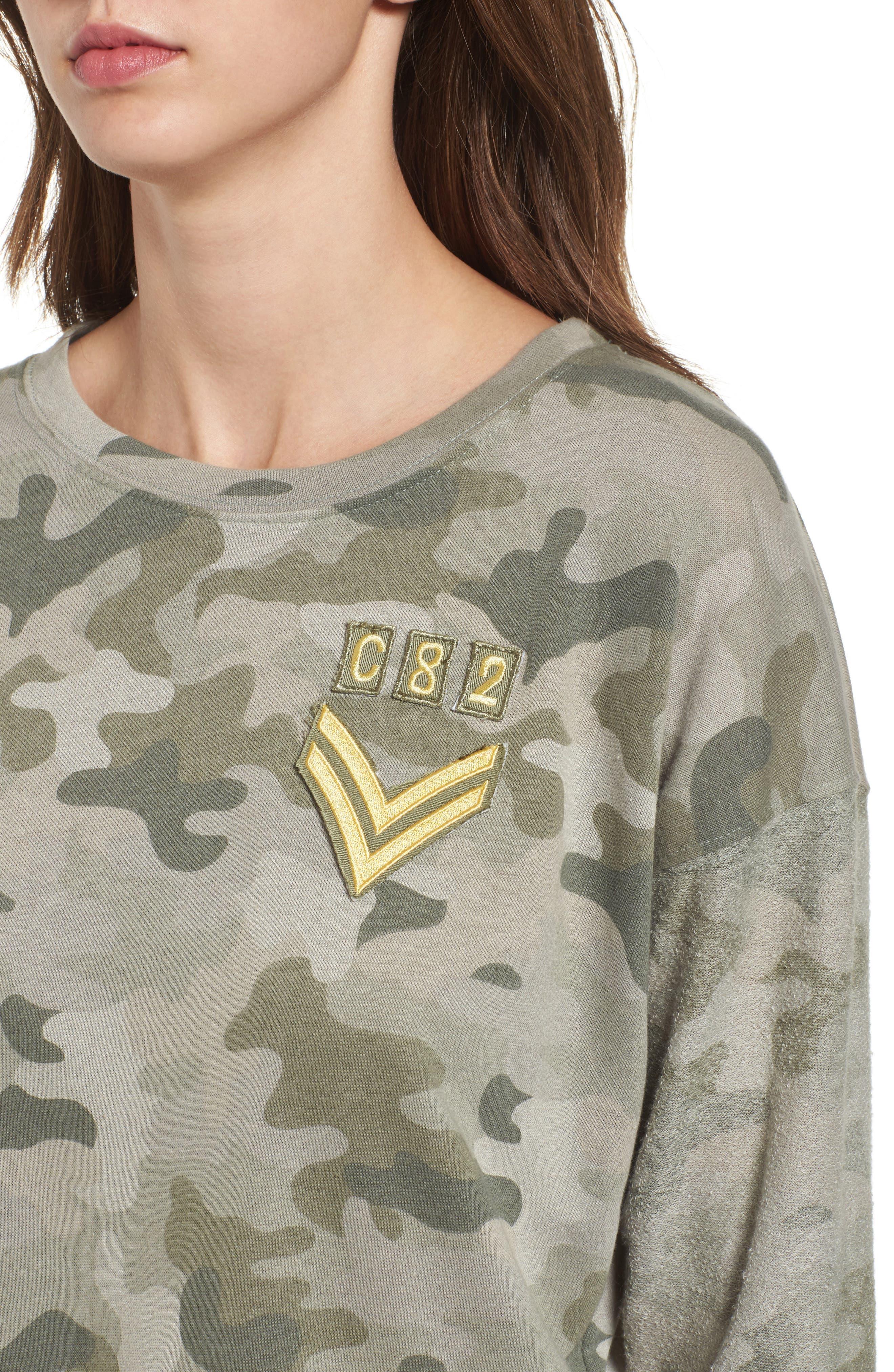 Alternate Image 4  - Rails Kelli Camo Print Sweatshirt