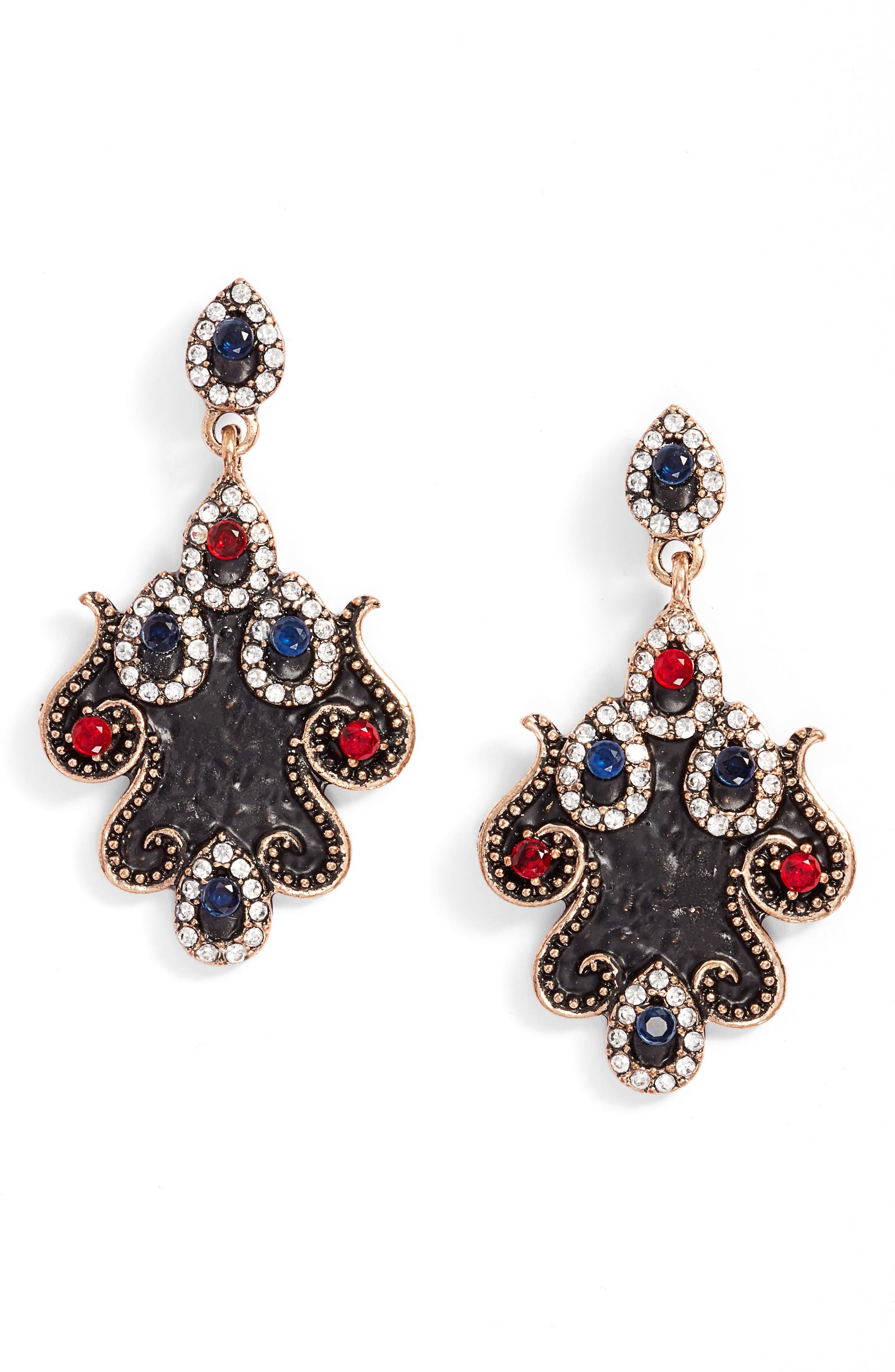 Esteri Drop Earrings,                         Main,                         color, Blue / Gold