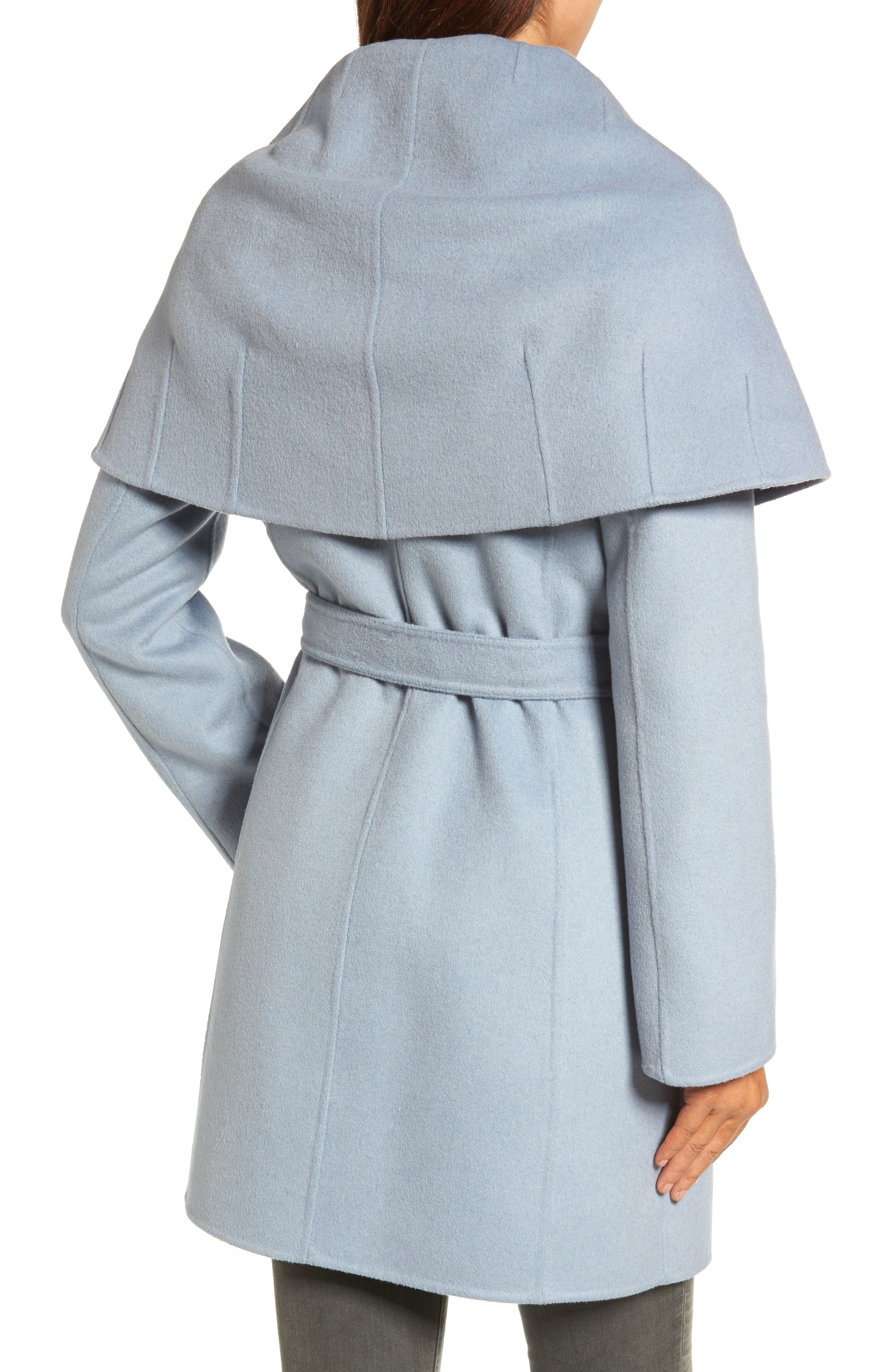Alternate Image 2  - Tahari Marla Double Face Wool Blend Wrap Coat
