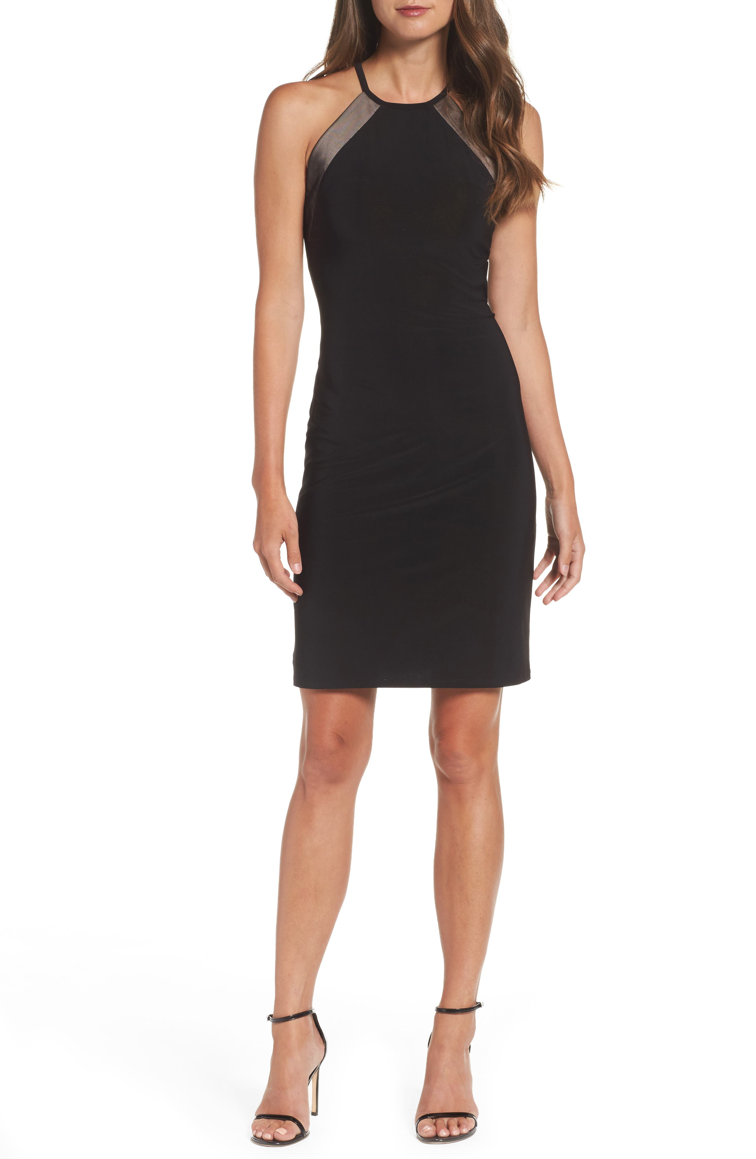 Willus Sheath Dress,                         Main,                         color, Black/ Nude