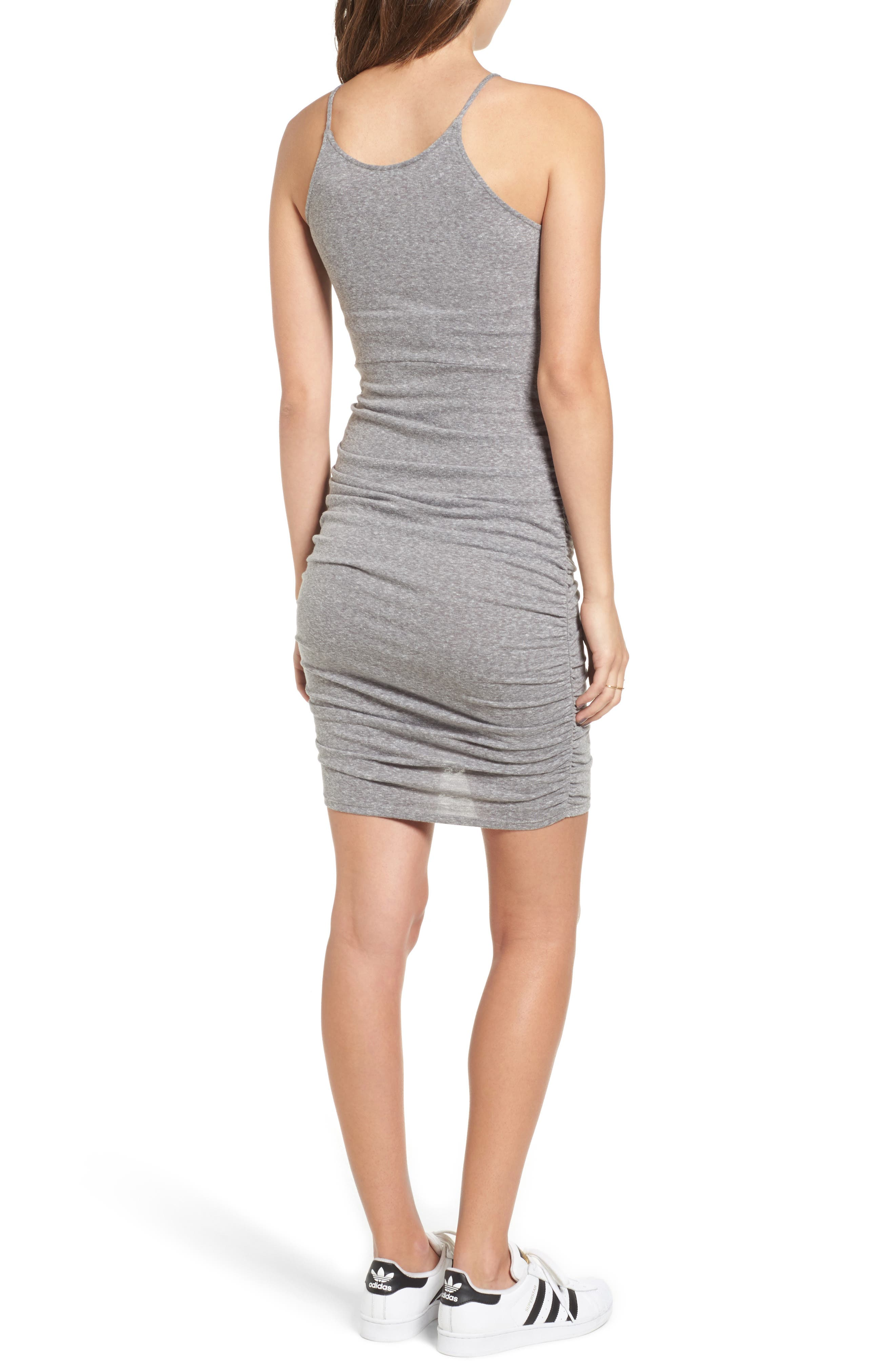 Gathered Front Body-Con Dress,                             Alternate thumbnail 2, color,                             004 H. Grey