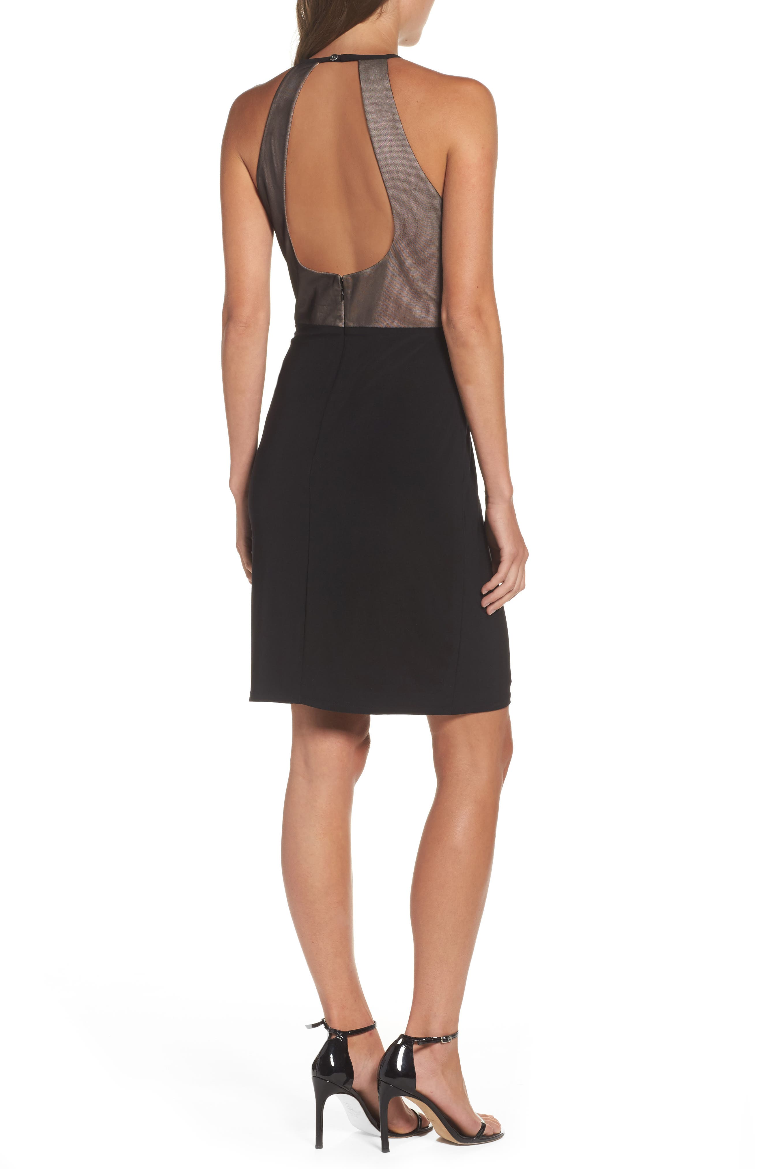 Willus Sheath Dress,                             Alternate thumbnail 2, color,                             Black/ Nude