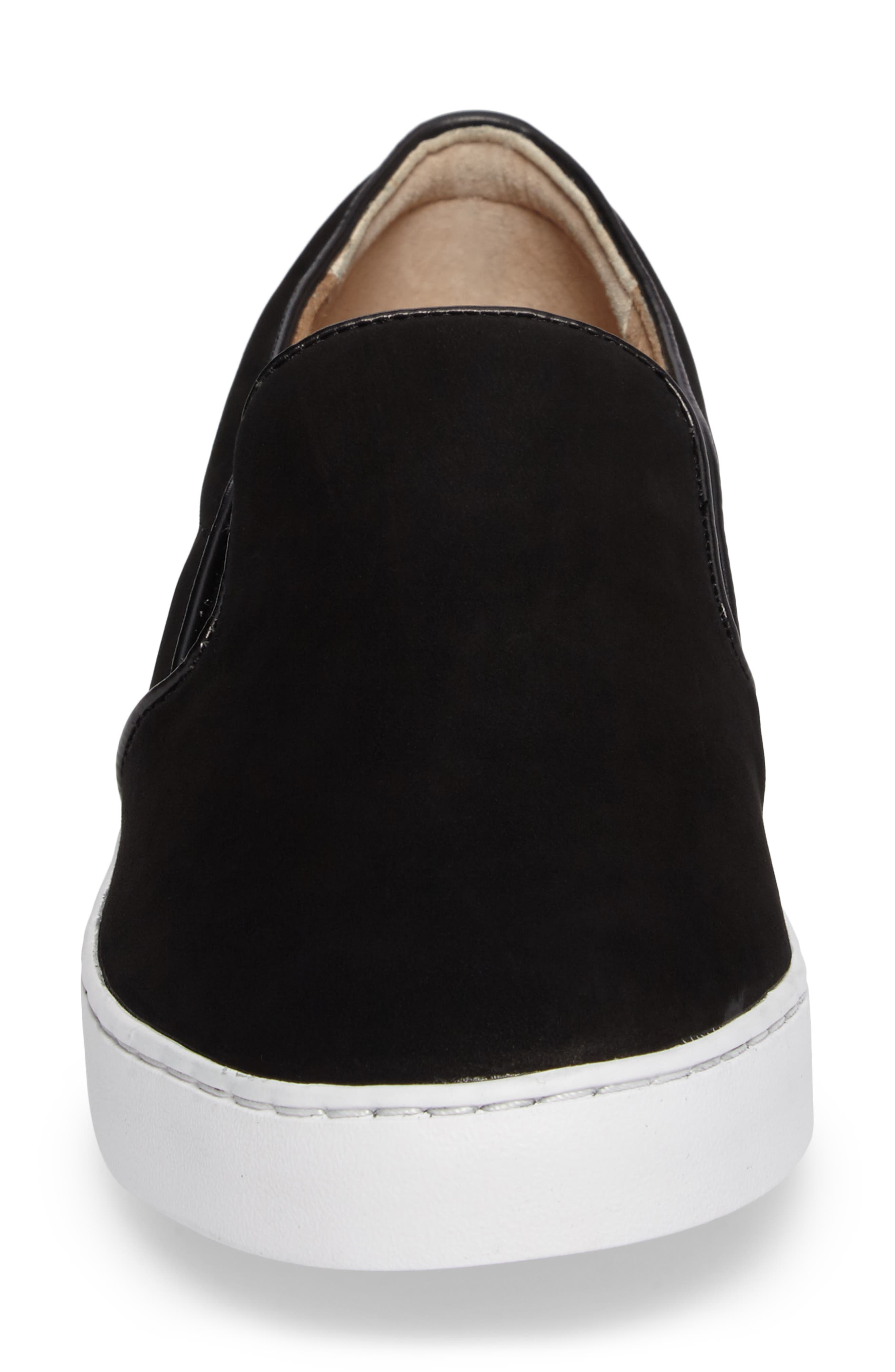 Double Gore Slip-On,                             Alternate thumbnail 4, color,                             Black Suede