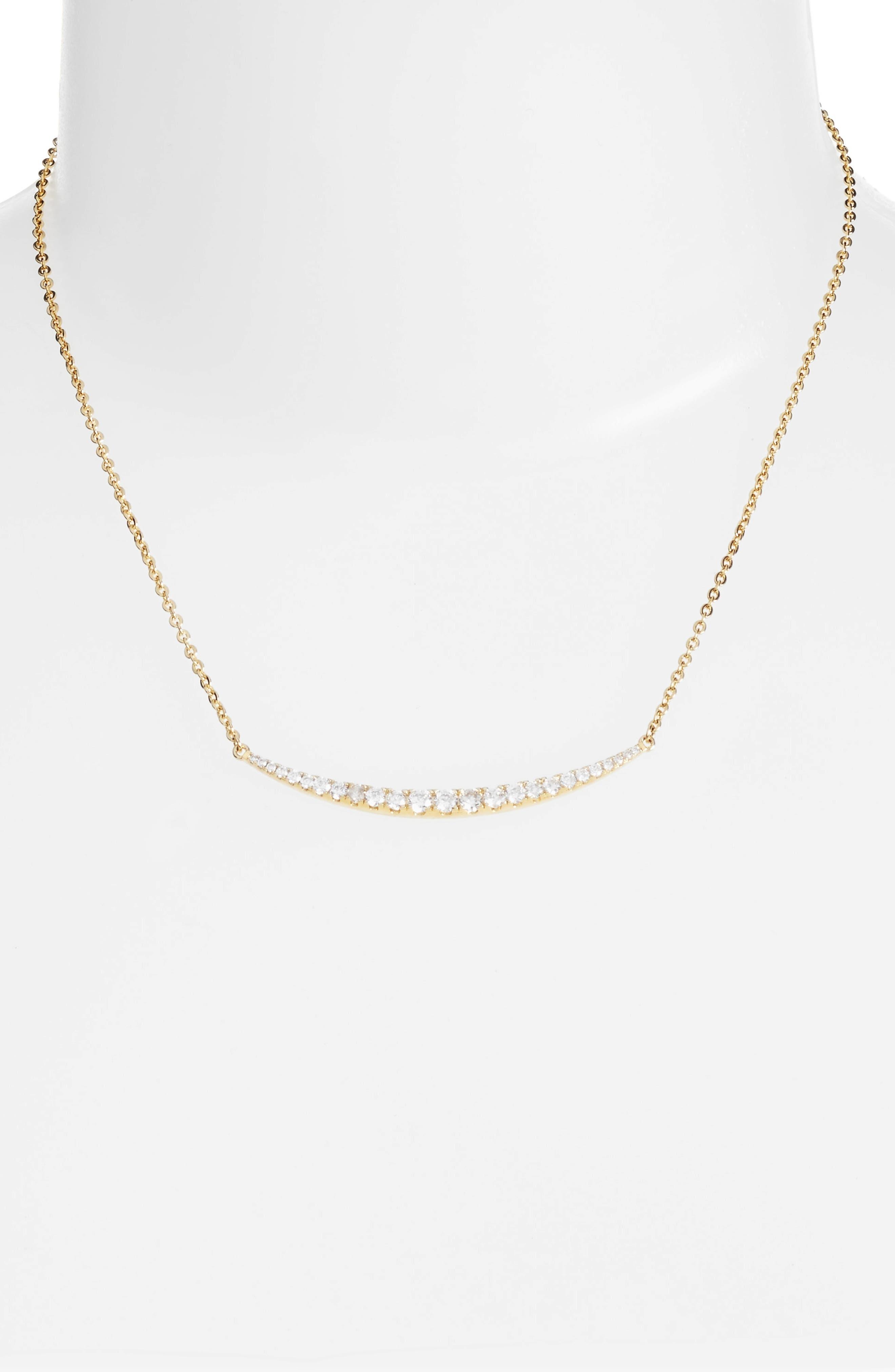 Crescent Pendant Necklace,                         Main,                         color, Gold
