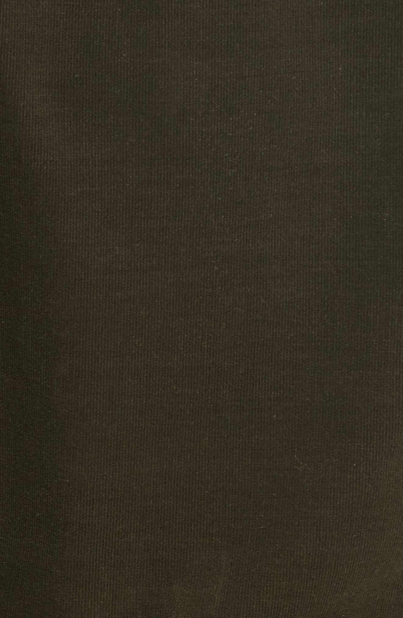 Britton Corduroy Shirtdress,                             Alternate thumbnail 5, color,                             Army Green