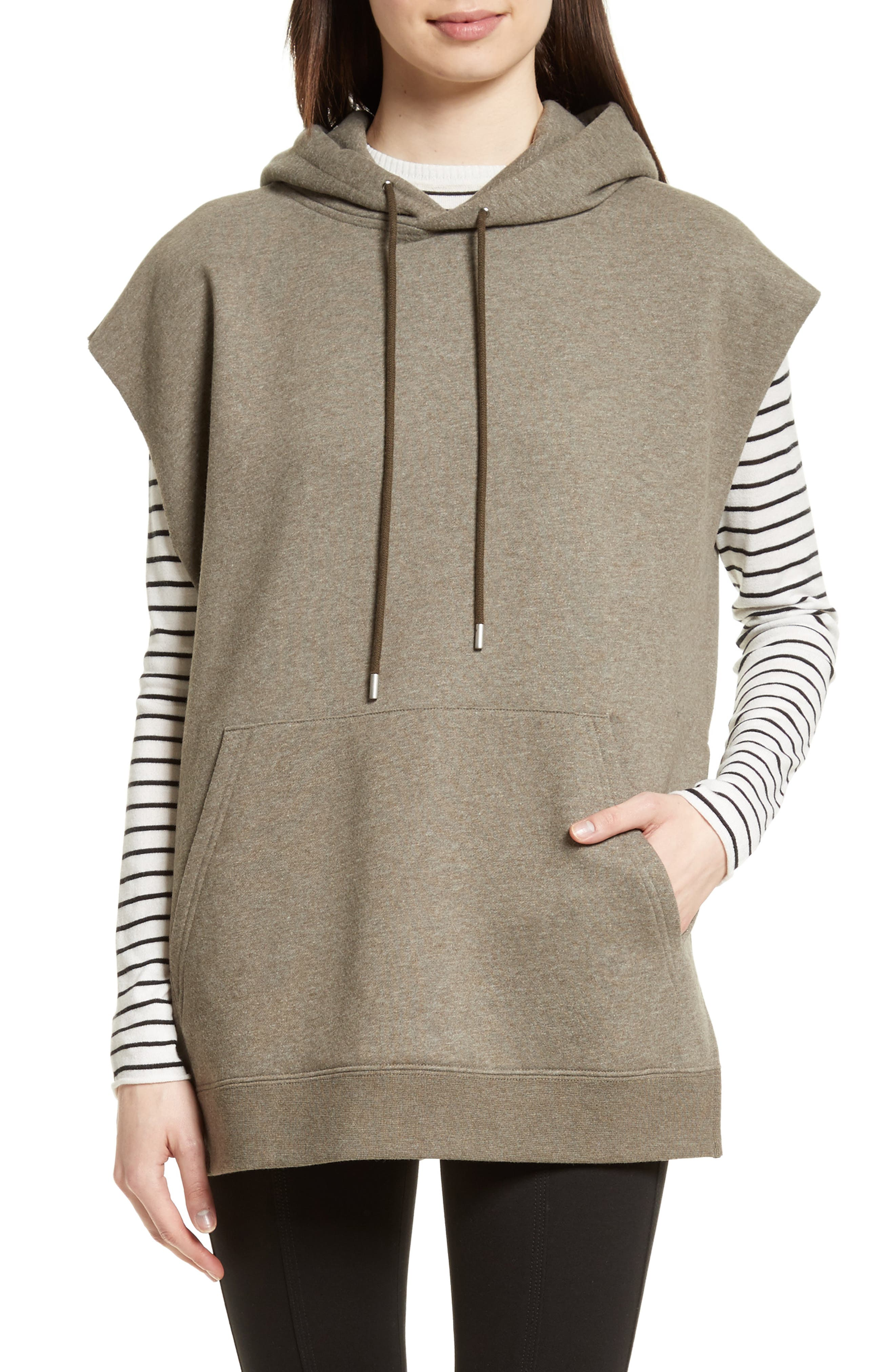 Sleeveless Hoodie,                             Main thumbnail 1, color,                             Olive
