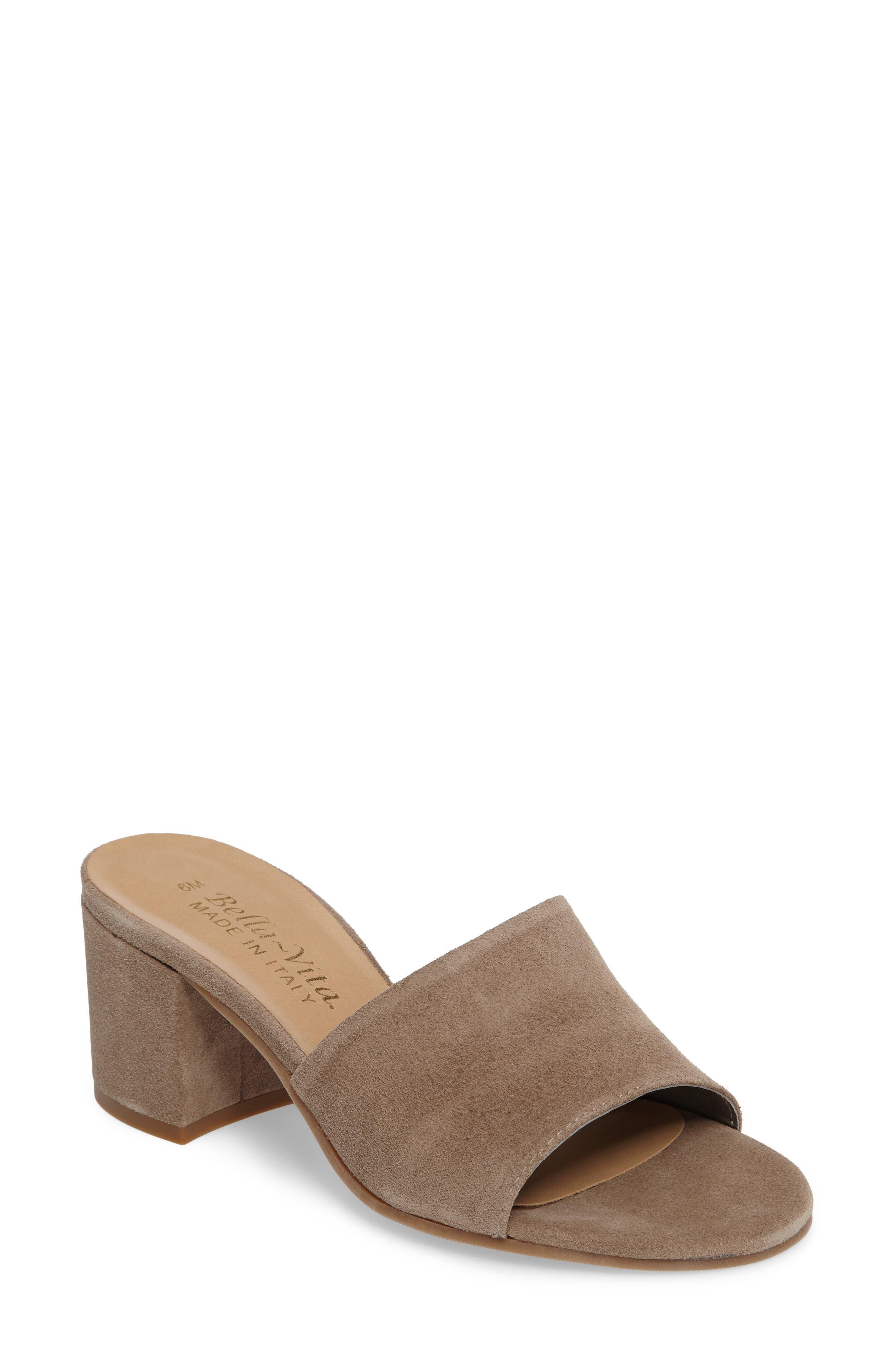 Mel Slide Sandal,                         Main,                         color, Taupe Suede
