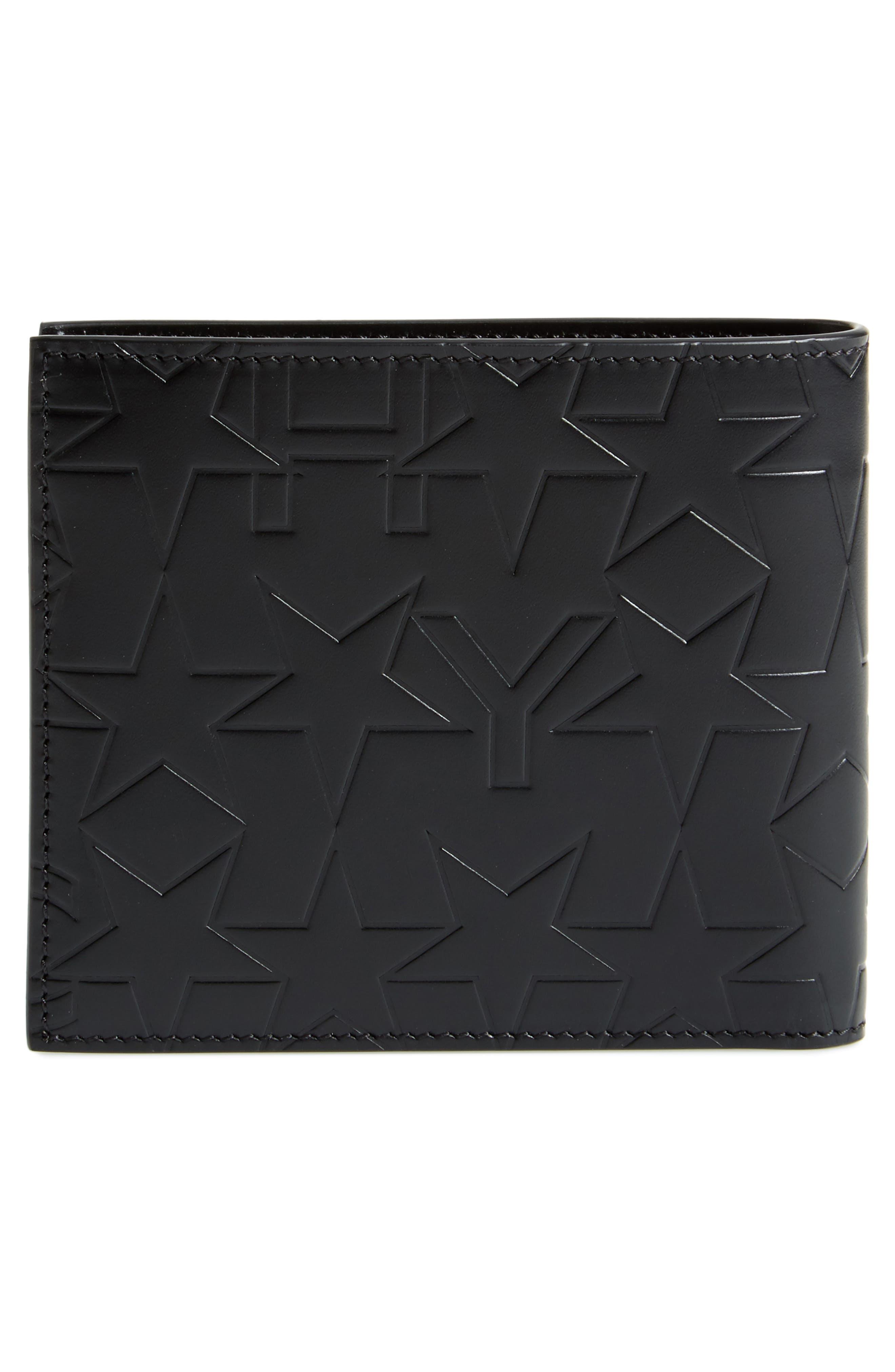 Leather Billfold Wallet,                             Alternate thumbnail 3, color,                             Black