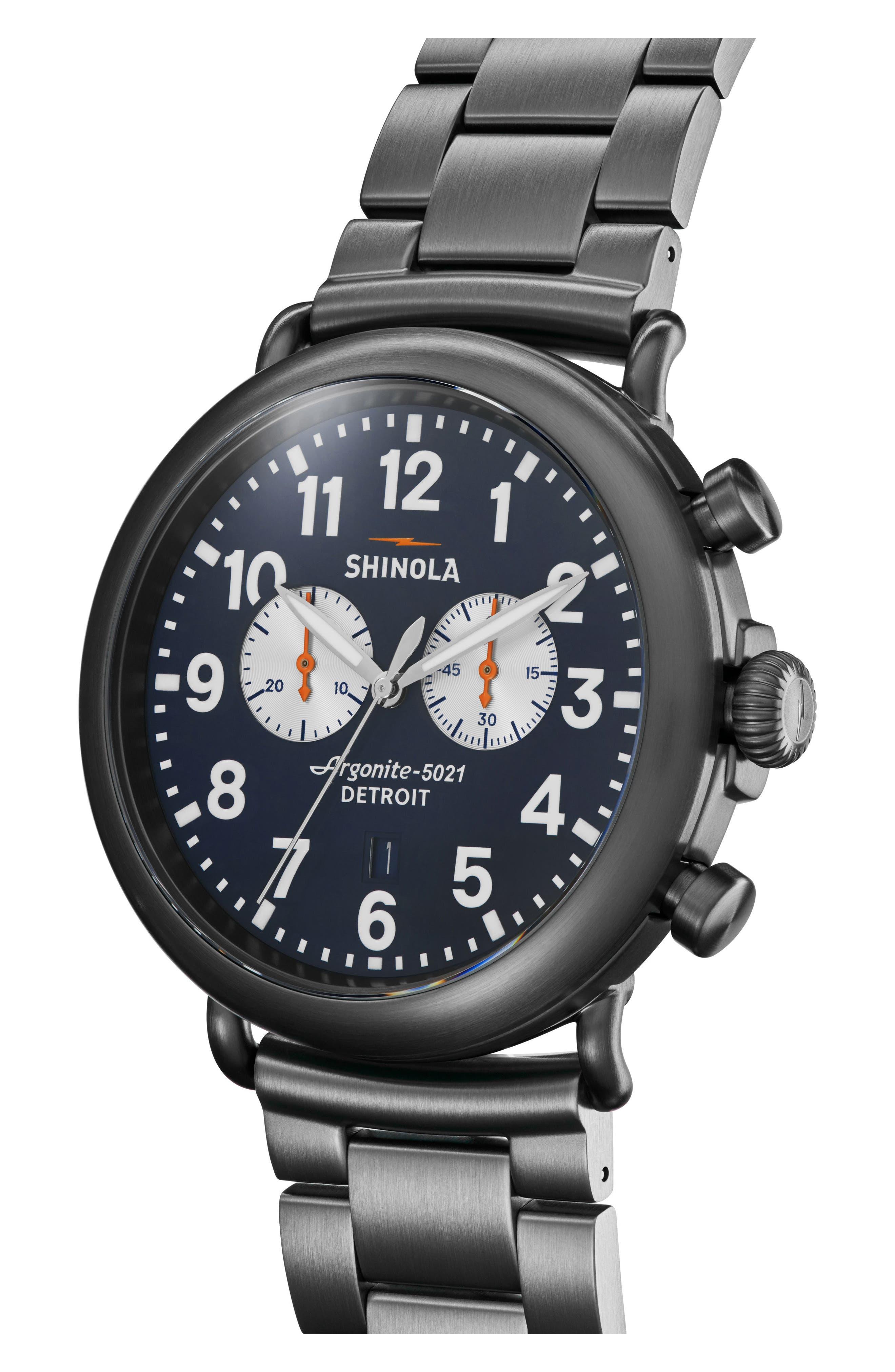 Alternate Image 4  - Shinola 'The Runwell Chrono' Bracelet Watch, 47mm