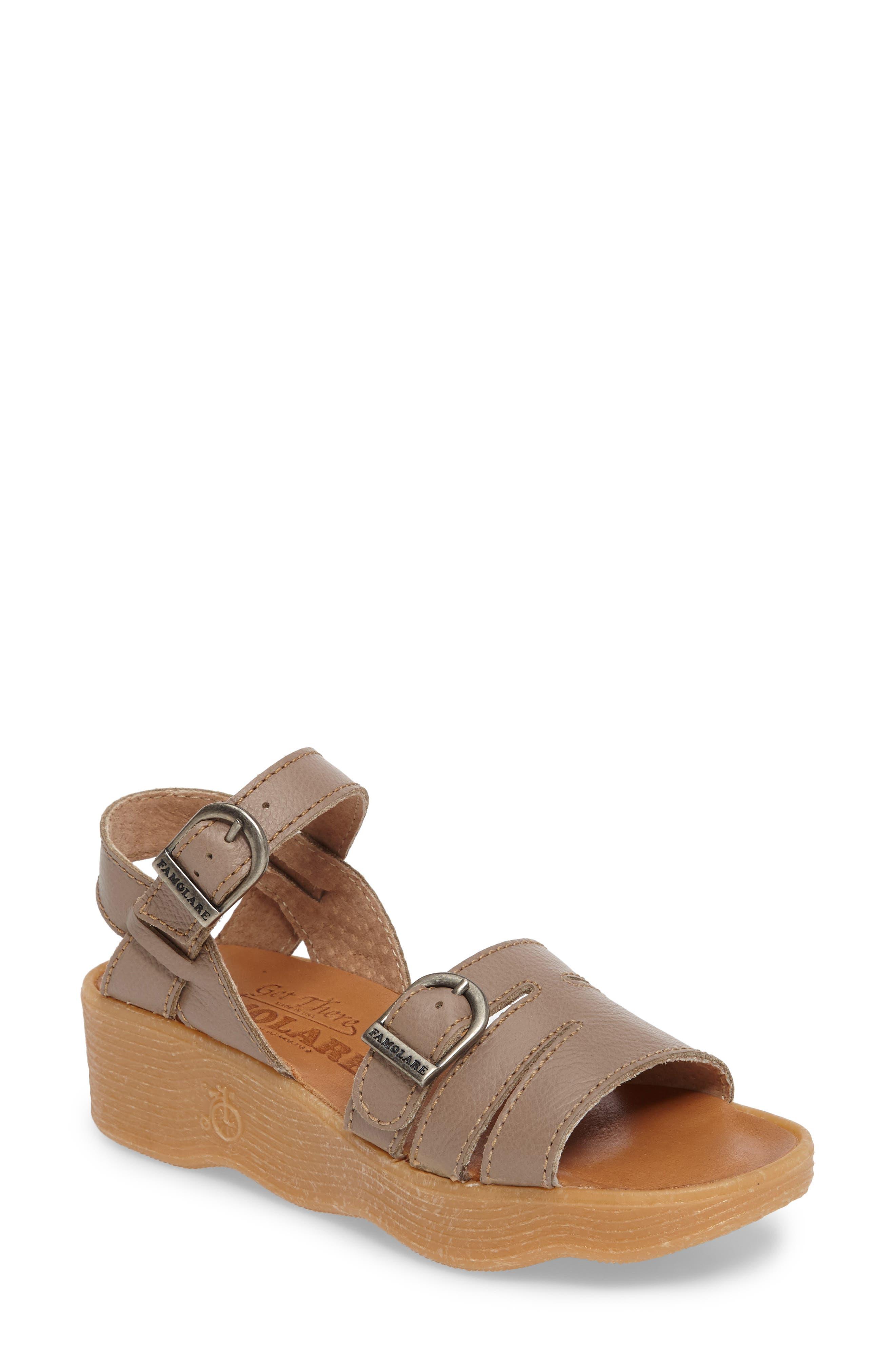 FAMOLARE Honeybuckle Wedge Sandal