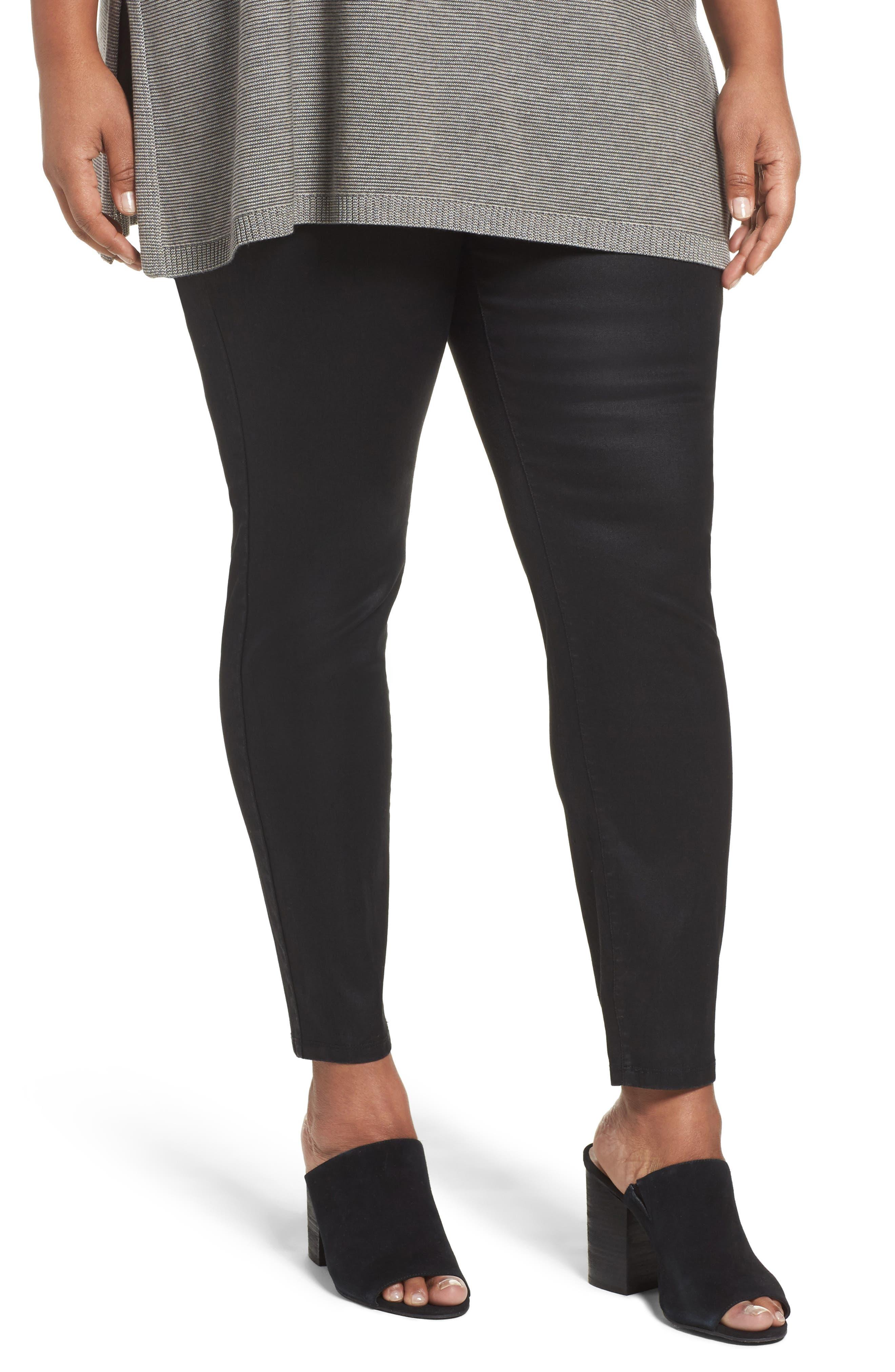 Eileen Fisher Stretch Denim Leggings (Plus Size)
