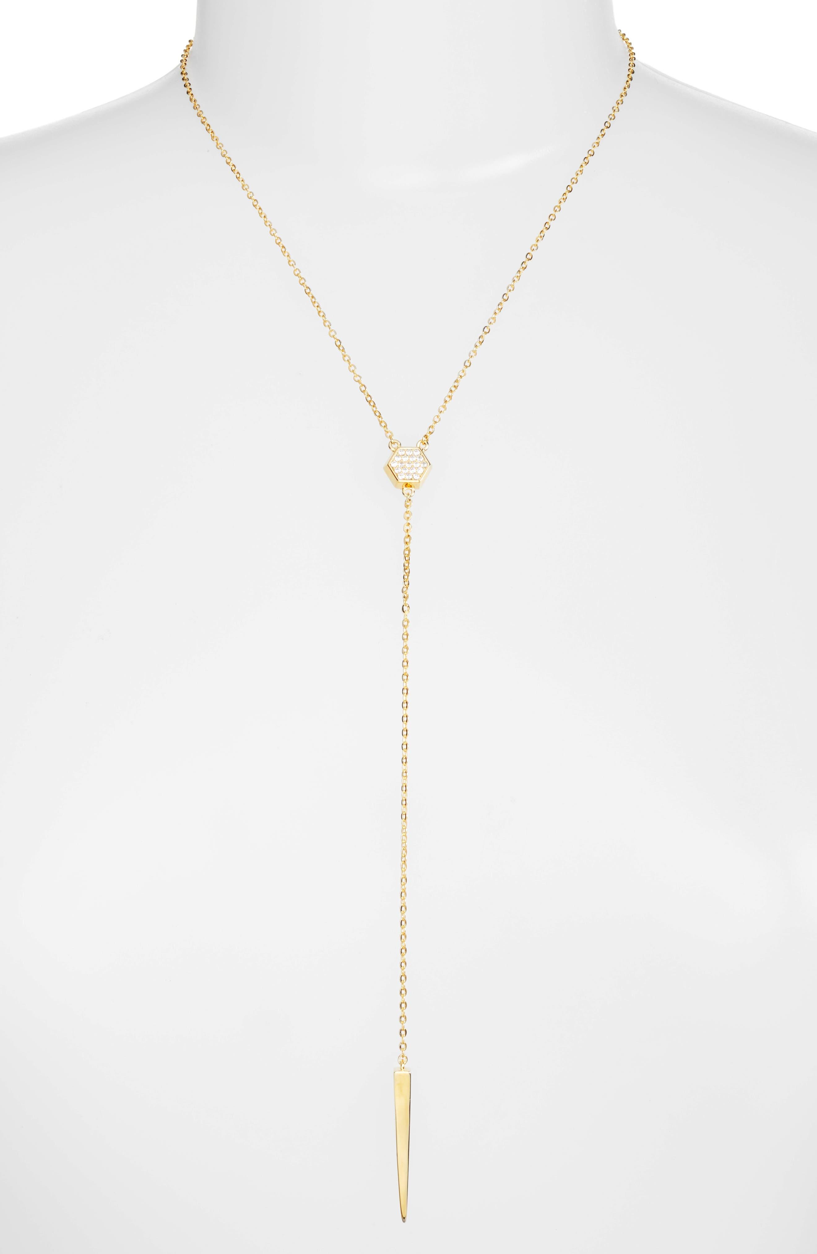 Emma Y-Necklace,                         Main,                         color, Gold