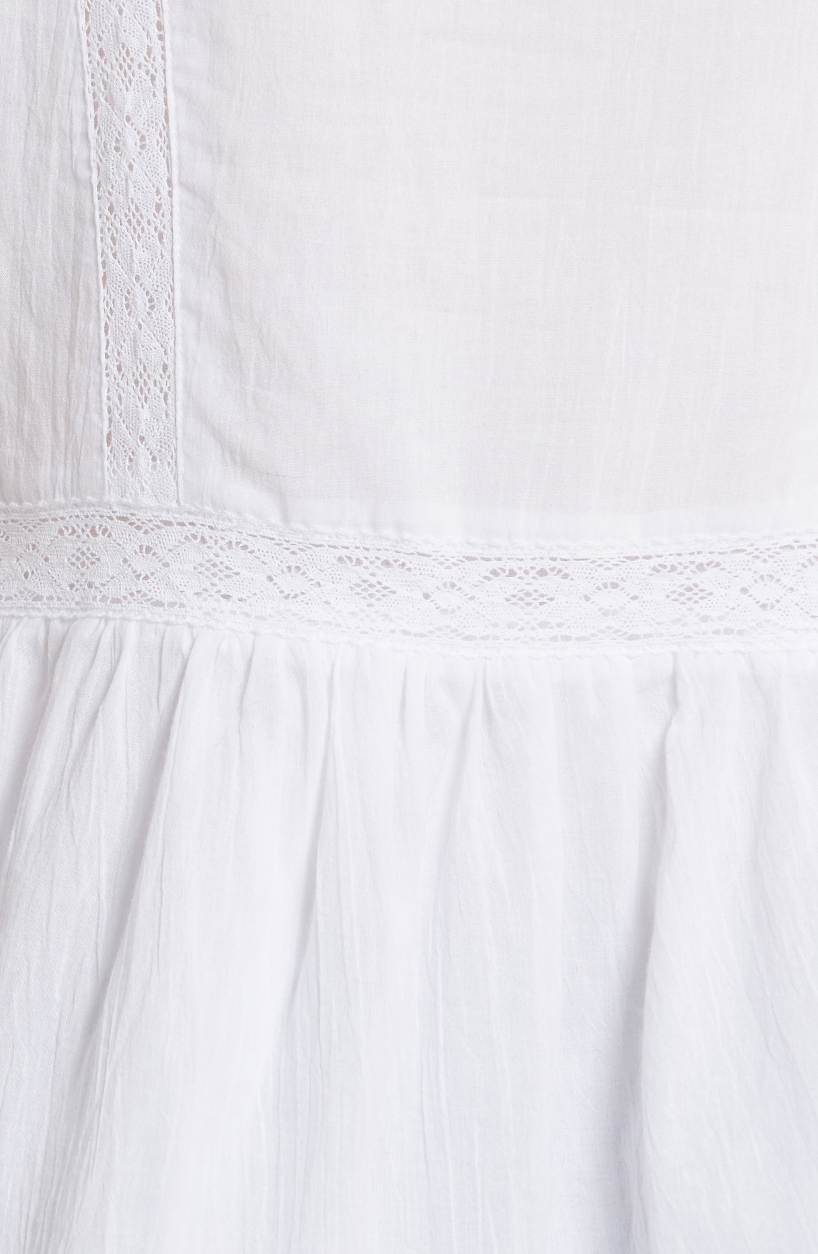 lace inset flounce top,                             Alternate thumbnail 5, color,                             White