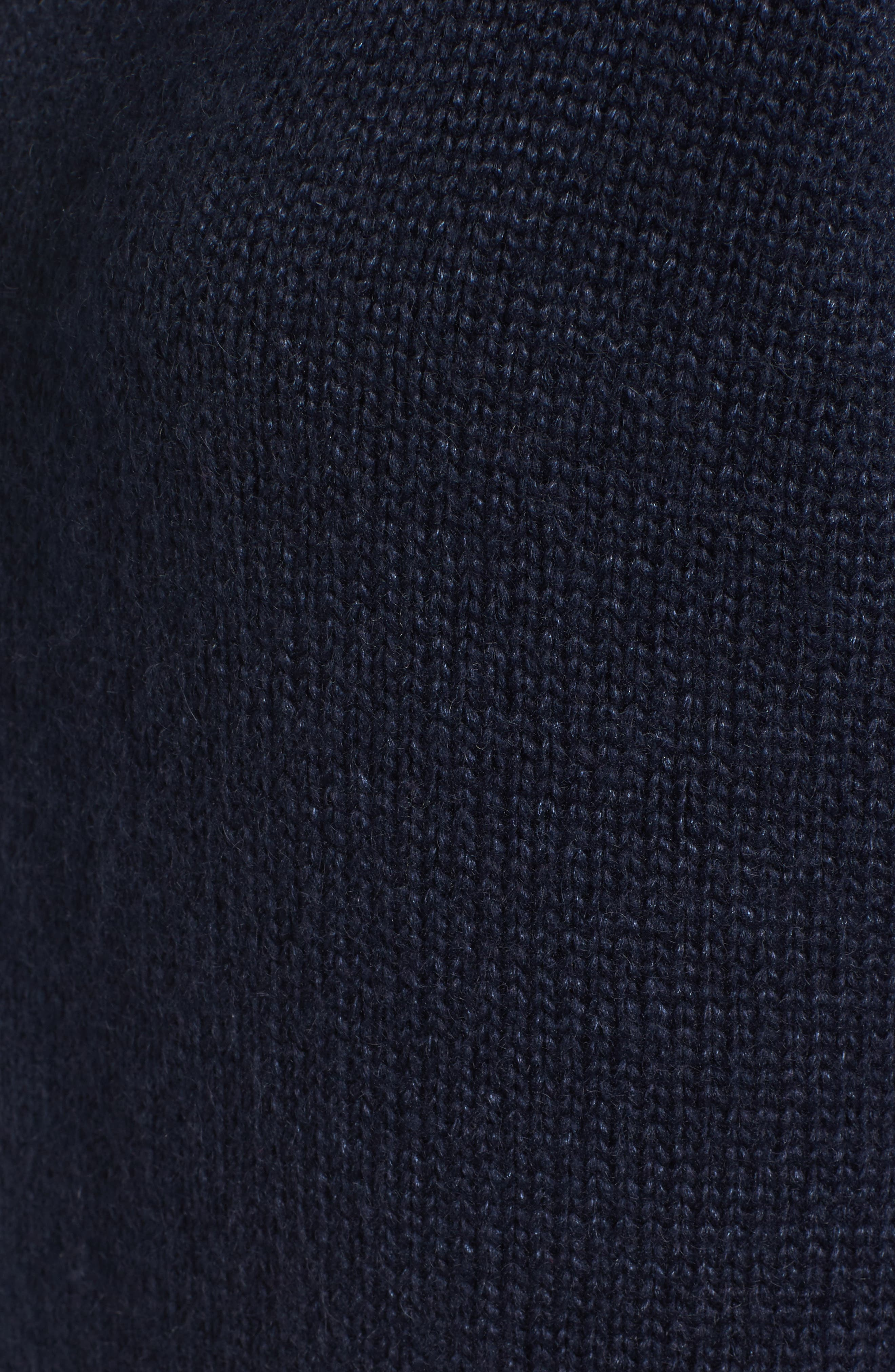 Laced Sleeve Pullover,                             Alternate thumbnail 6, color,                             Navy Night