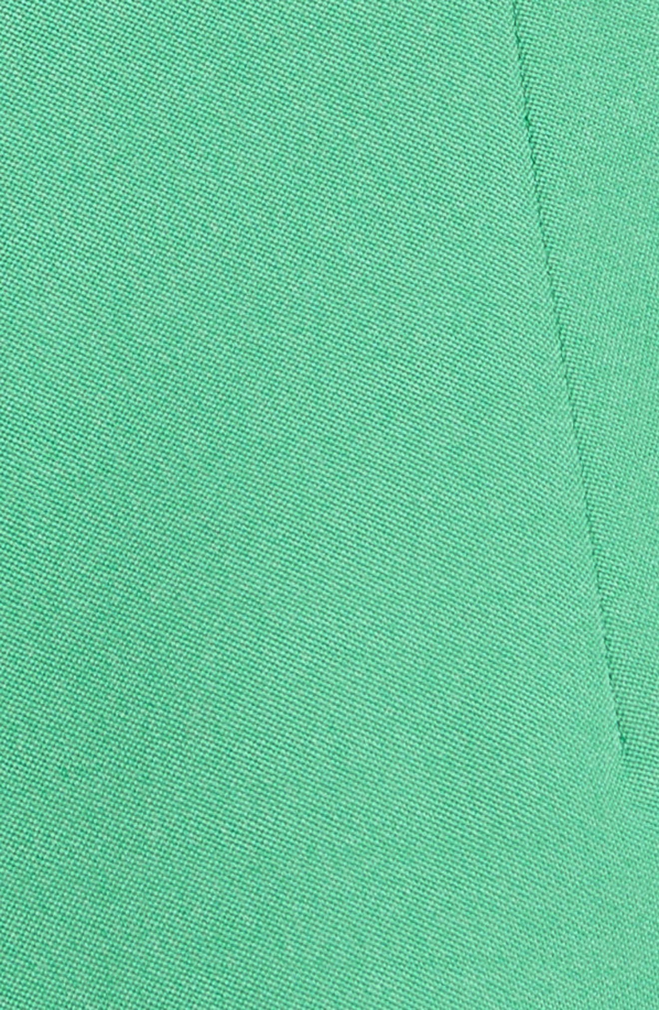 Beaded Stretch Wool Dress,                             Alternate thumbnail 3, color,                             Green
