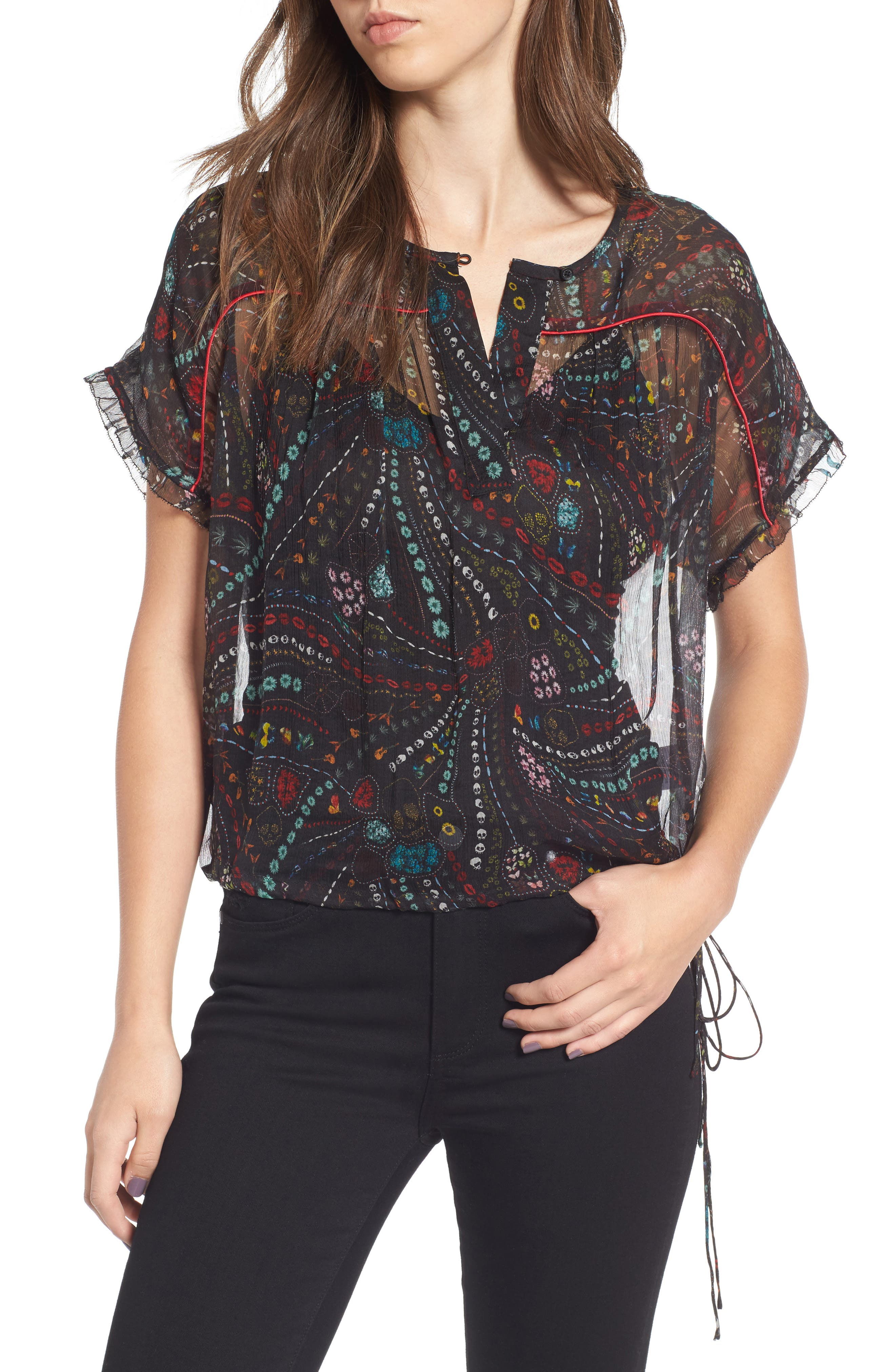 Alternate Image 1 Selected - Zadig & Voltaire Terson Deluxe Silk Top