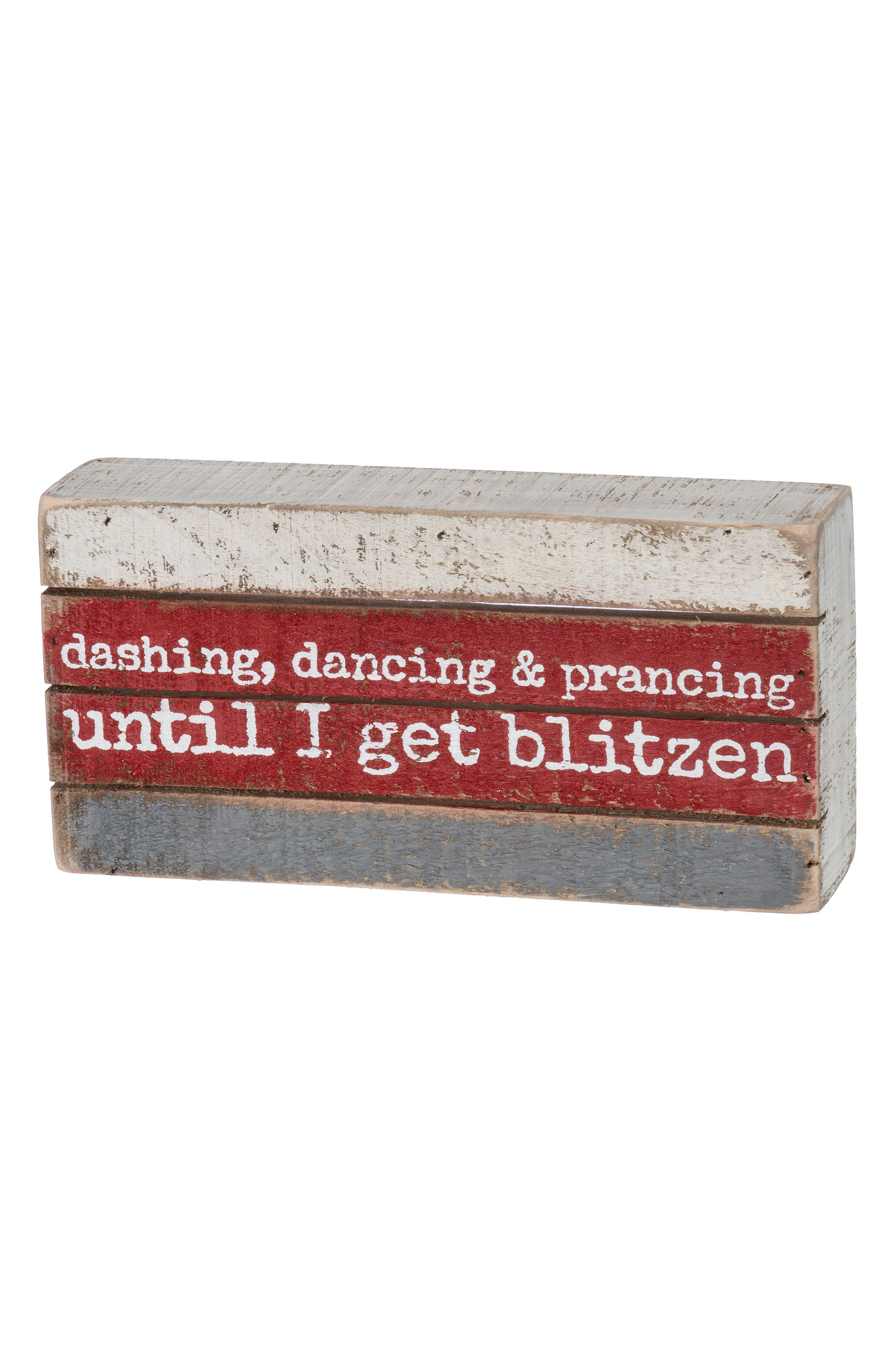 Primitives by Kathy Get Blitzen Box Sign