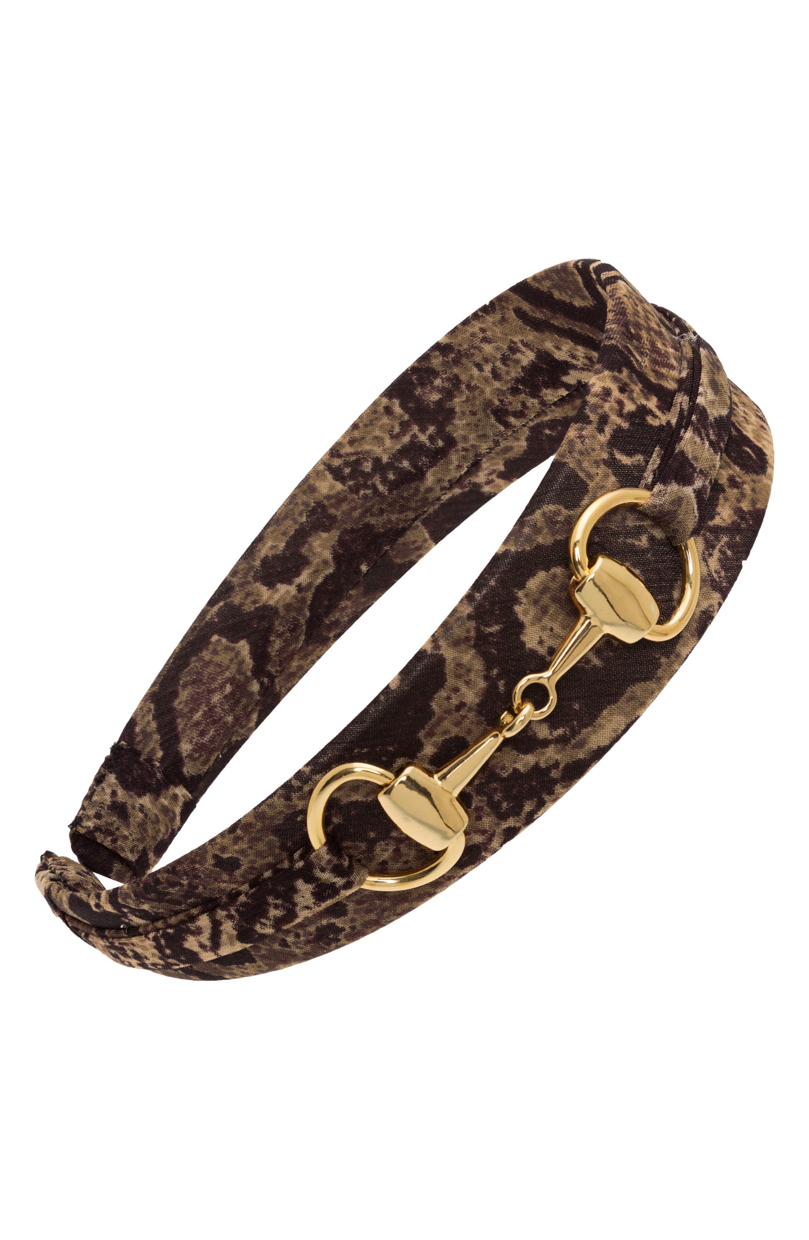 'Bit' Headband,                         Main,                         color, Serpent Brown