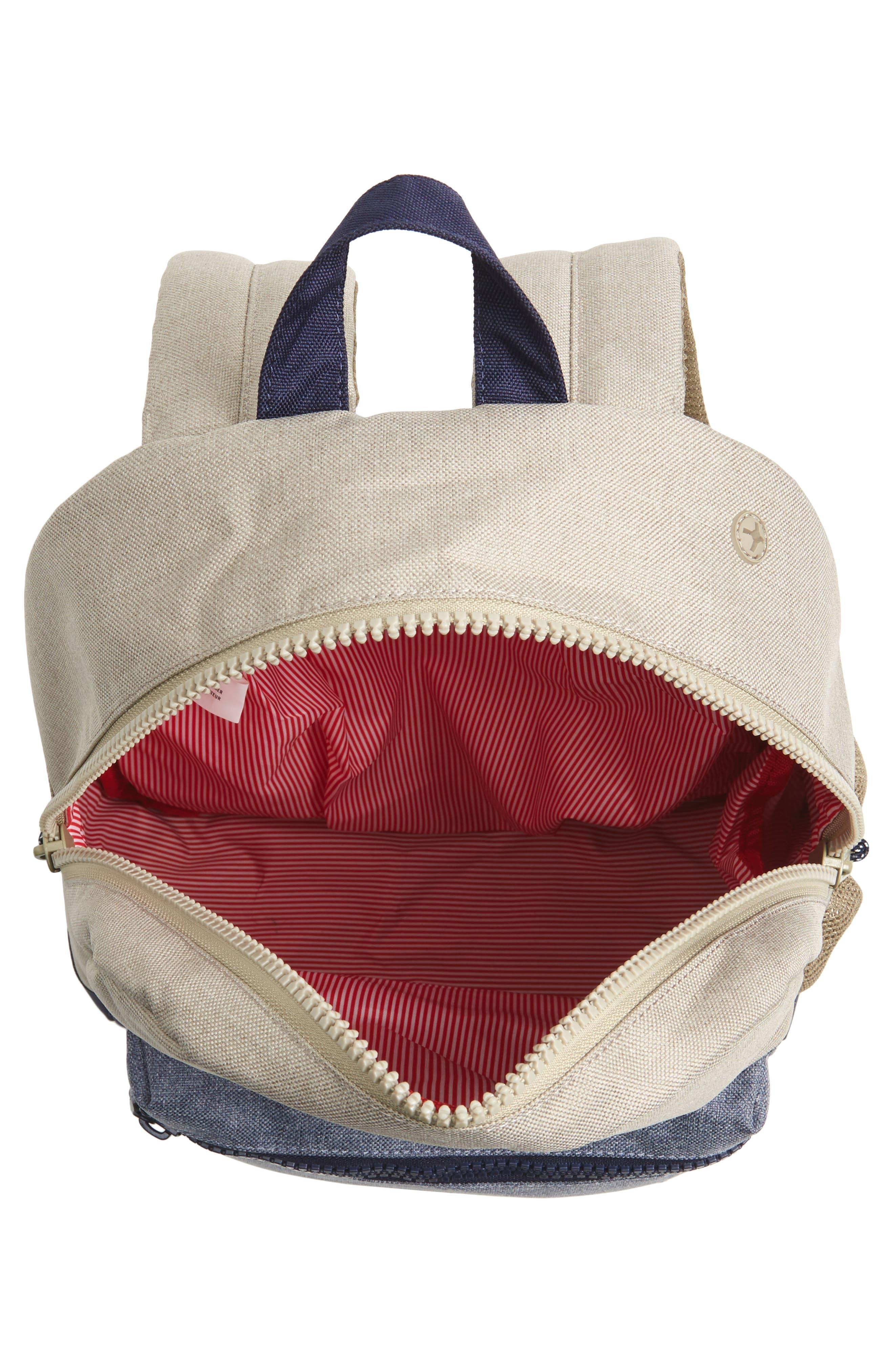 Heritage Backpack,                             Alternate thumbnail 3, color,                             Khaki Chambray Crosshatch