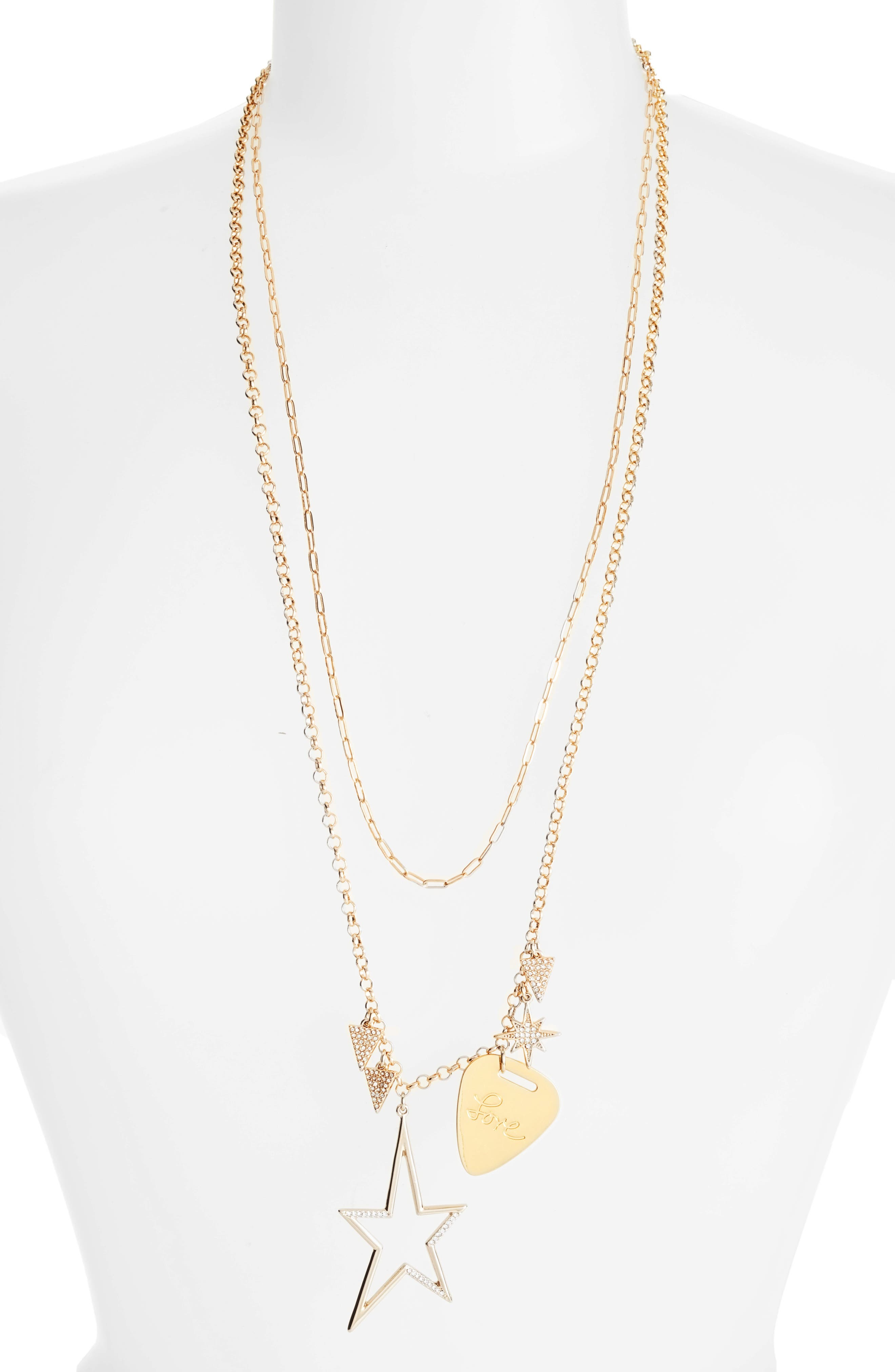 Alternate Image 1 Selected - Rebecca Minkoff Guitar Pick Charm Necklace