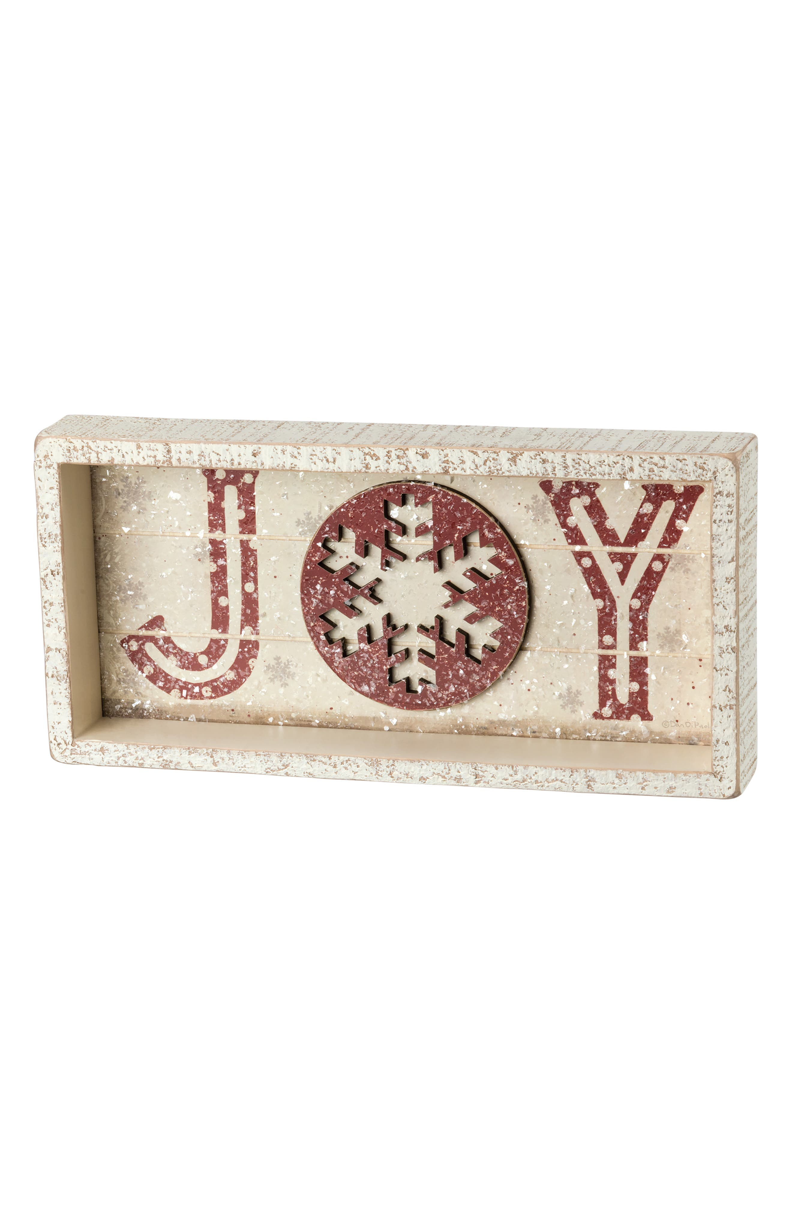 Joy Shadow Box Sign,                         Main,                         color, Ivory