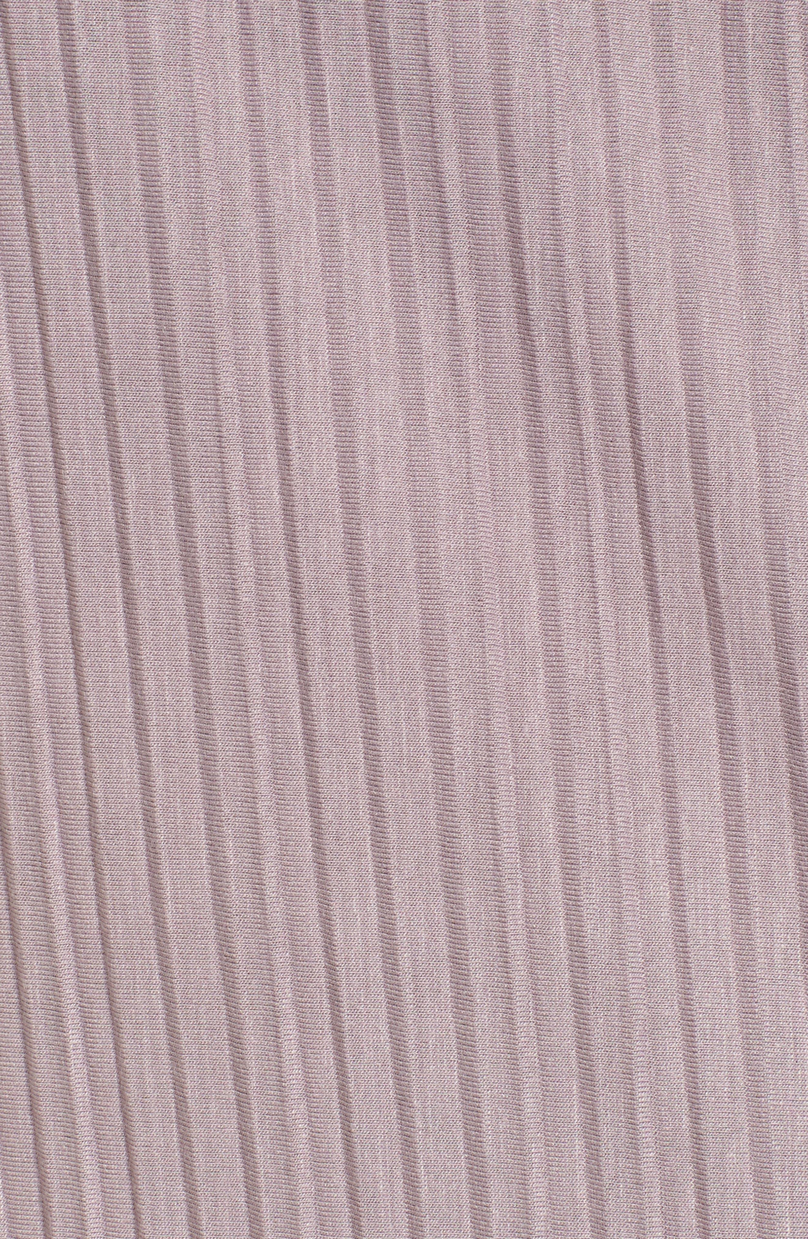 Plissé Pleat Shift Dress,                             Alternate thumbnail 5, color,                             Purple Quail