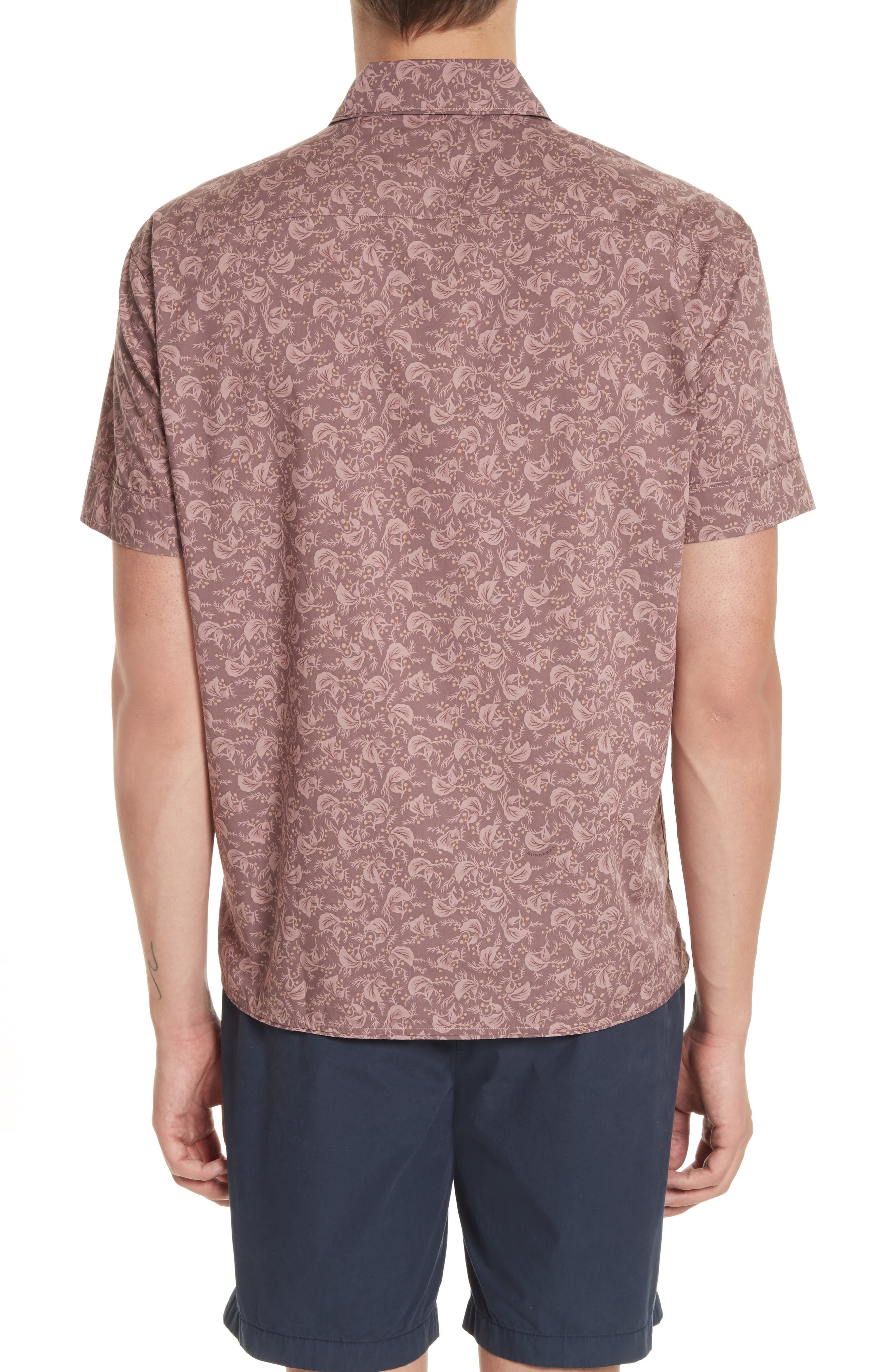 Alternate Image 2  - Burberry Borrows Slim Fit Print Sport Shirt