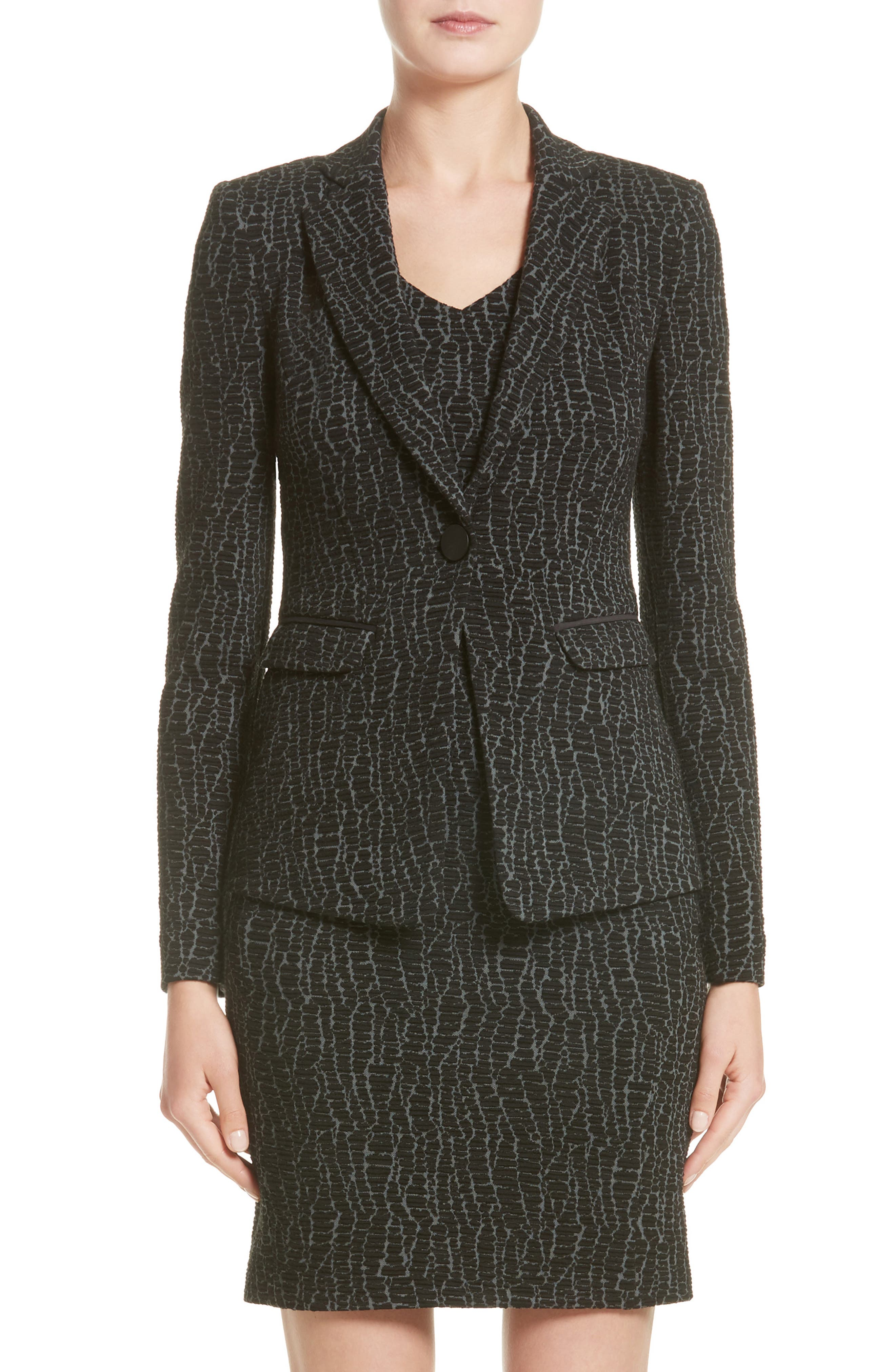 Armani Collezioni Snake Print Jersey Jacket (Nordstrom Exclusive)