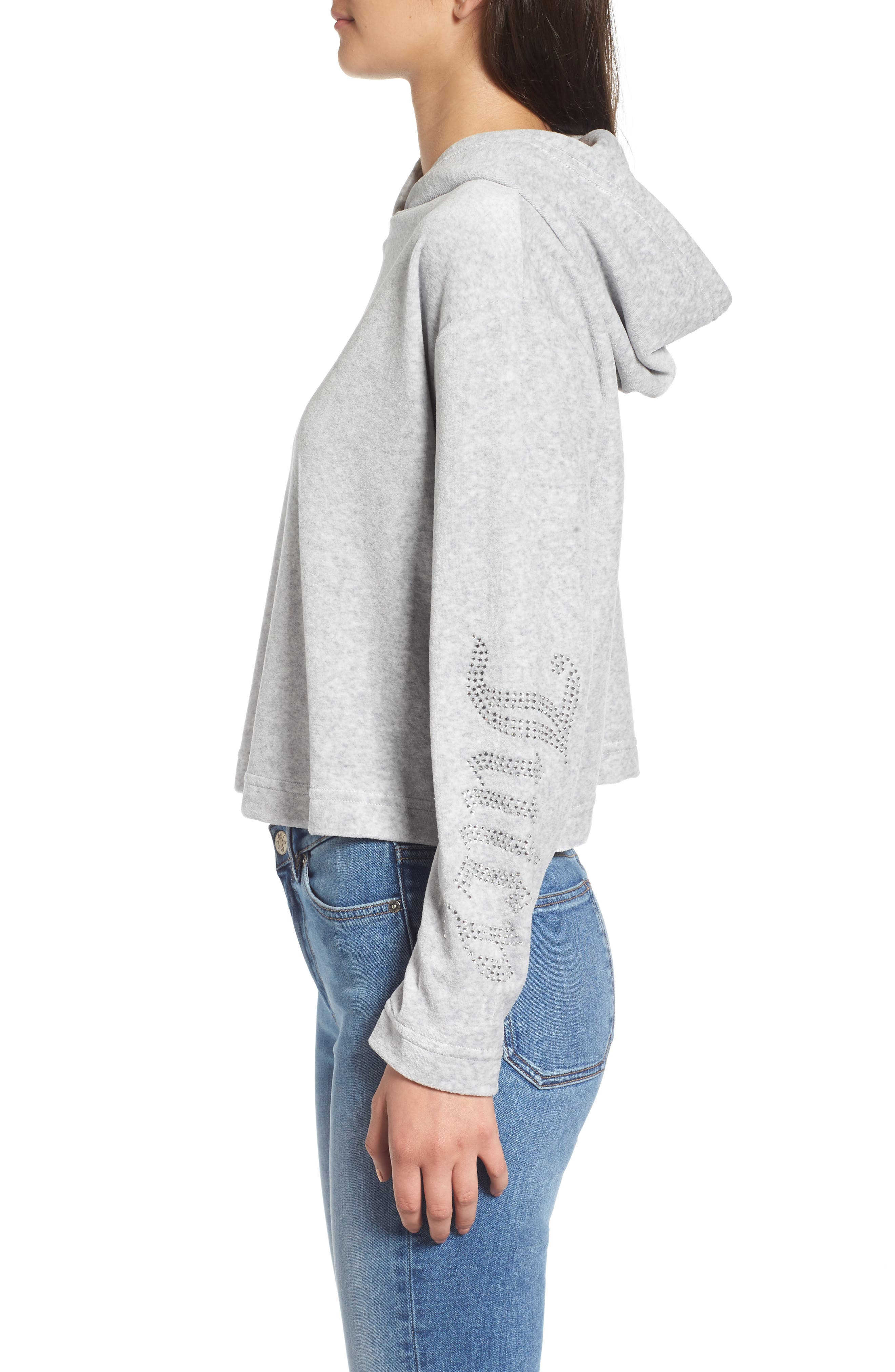 Alternate Image 3  - Juicy Couture Gothic Logo Velour Hoodie