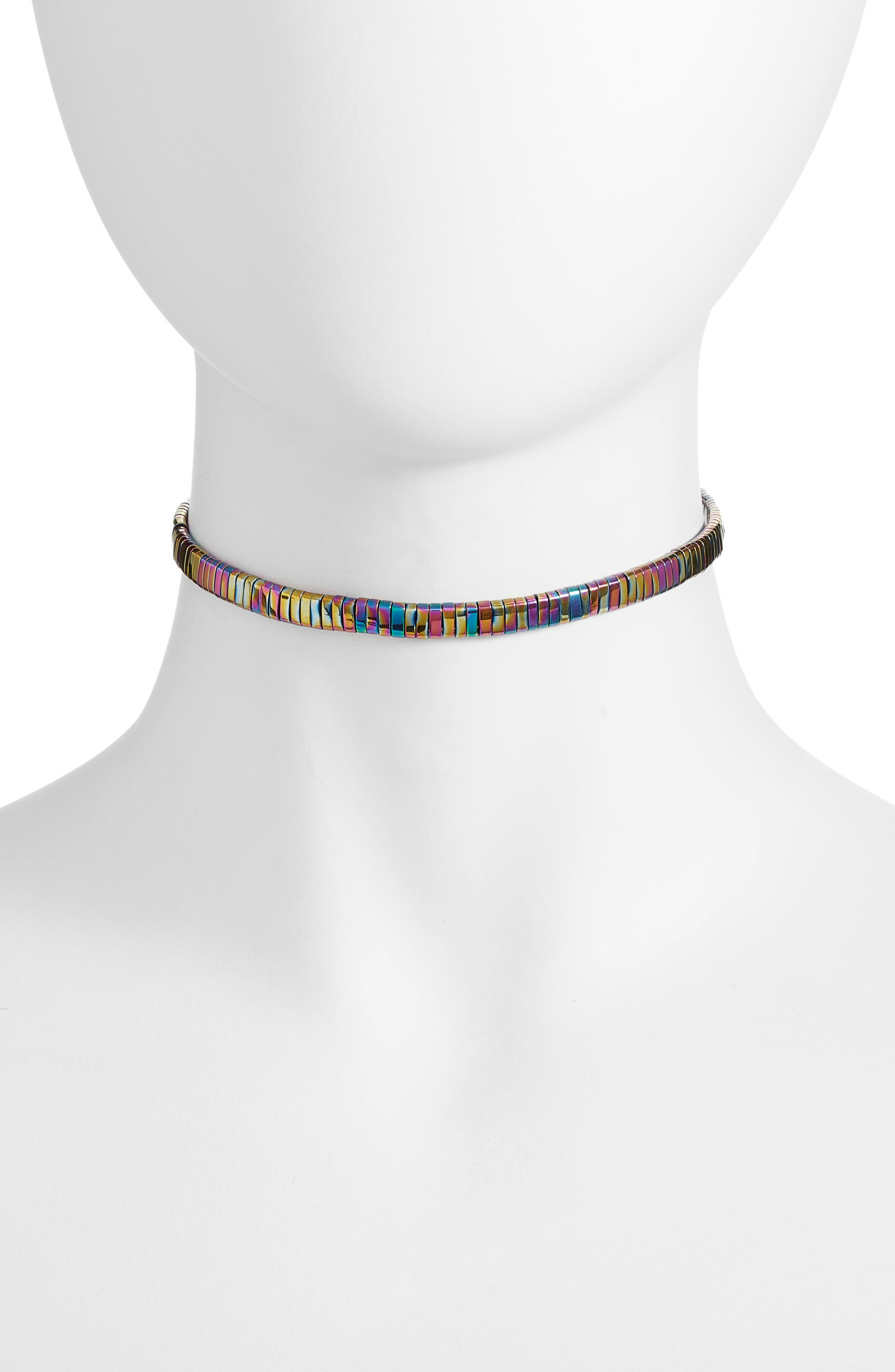 The Skylar Choker,                         Main,                         color, Rainbow Hematite