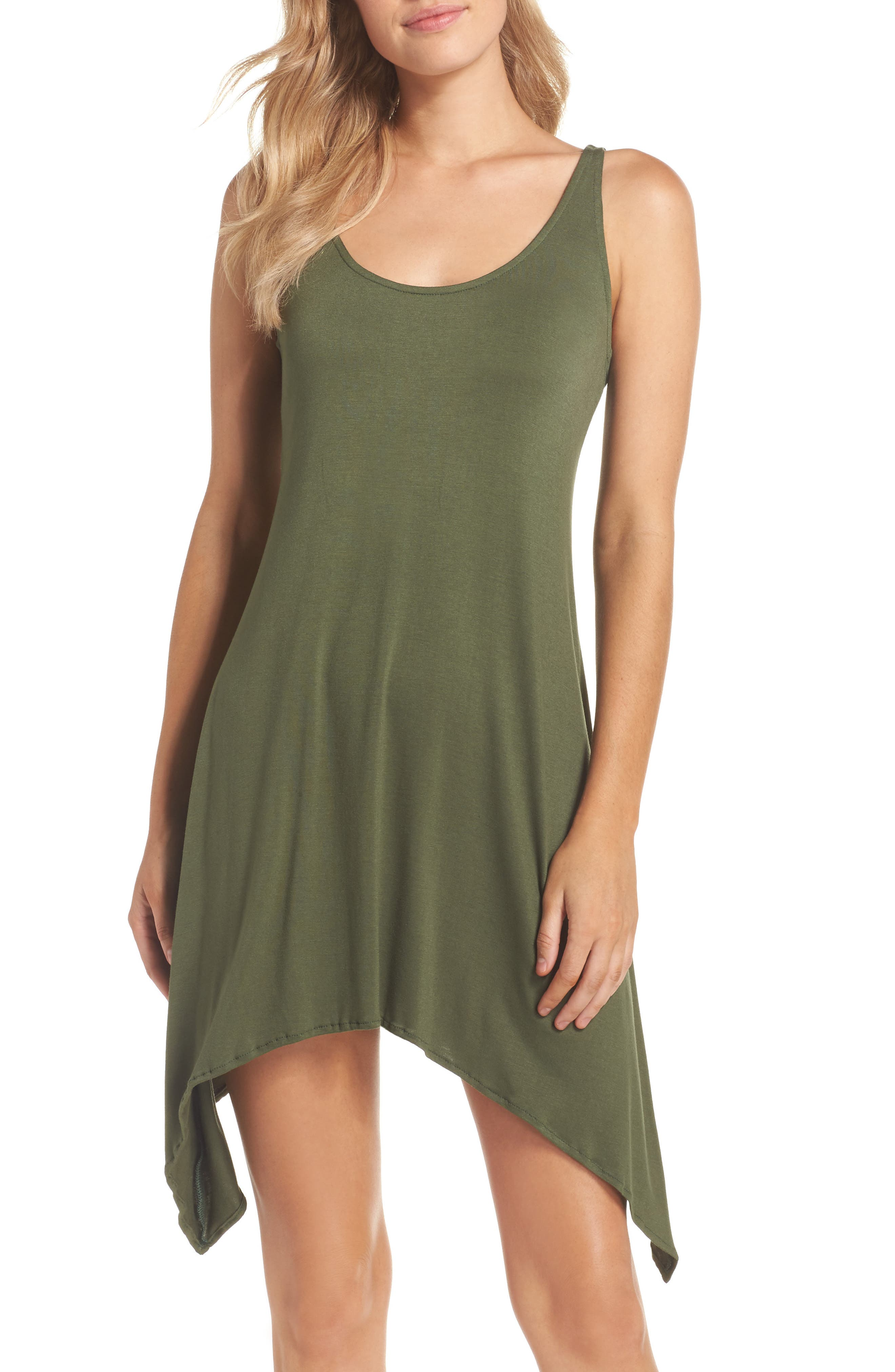 Take Cover Cover-Up Dress,                         Main,                         color, Olive