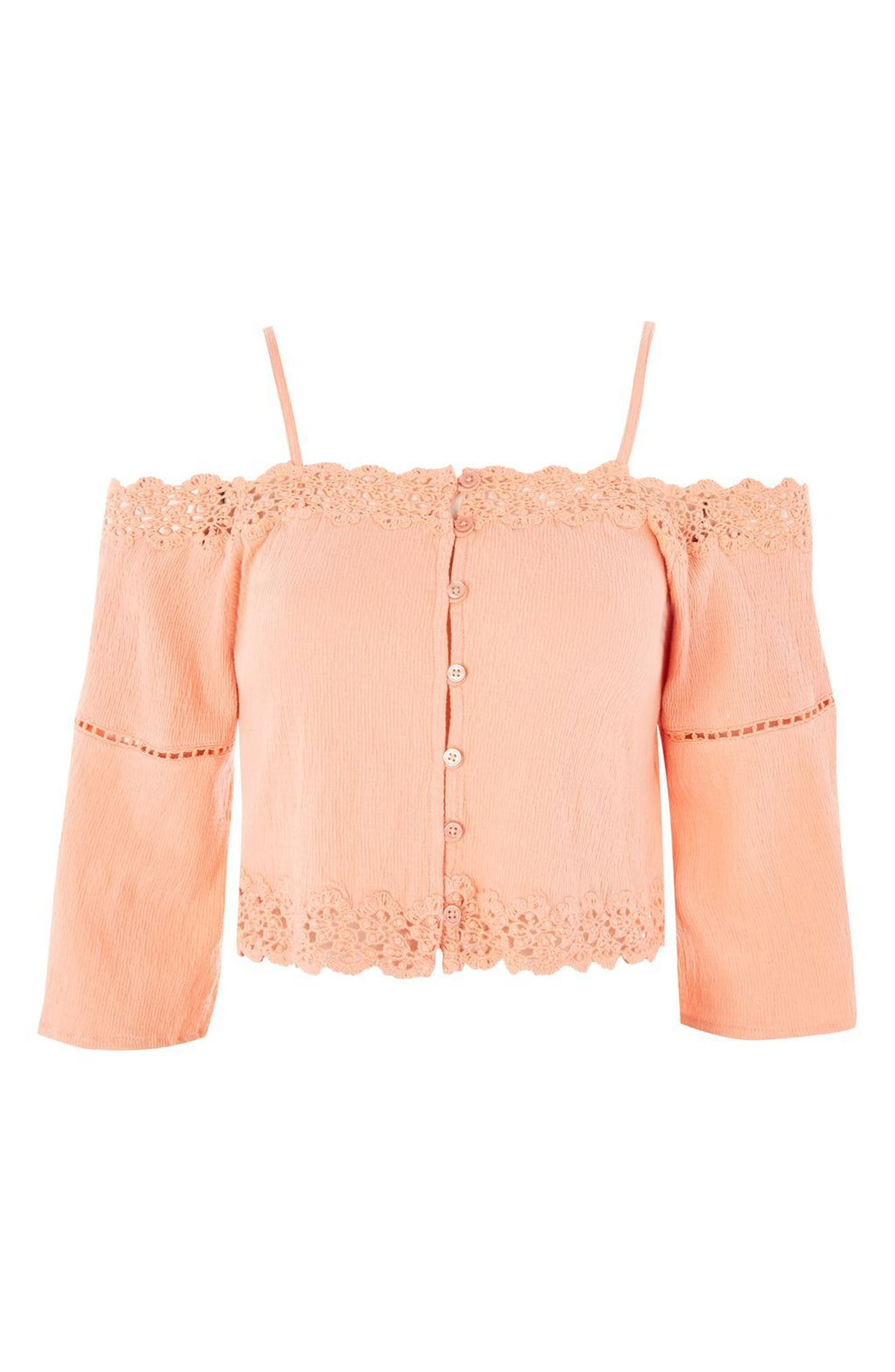 Alternate Image 3  - Topshop Cold Shoulder Top