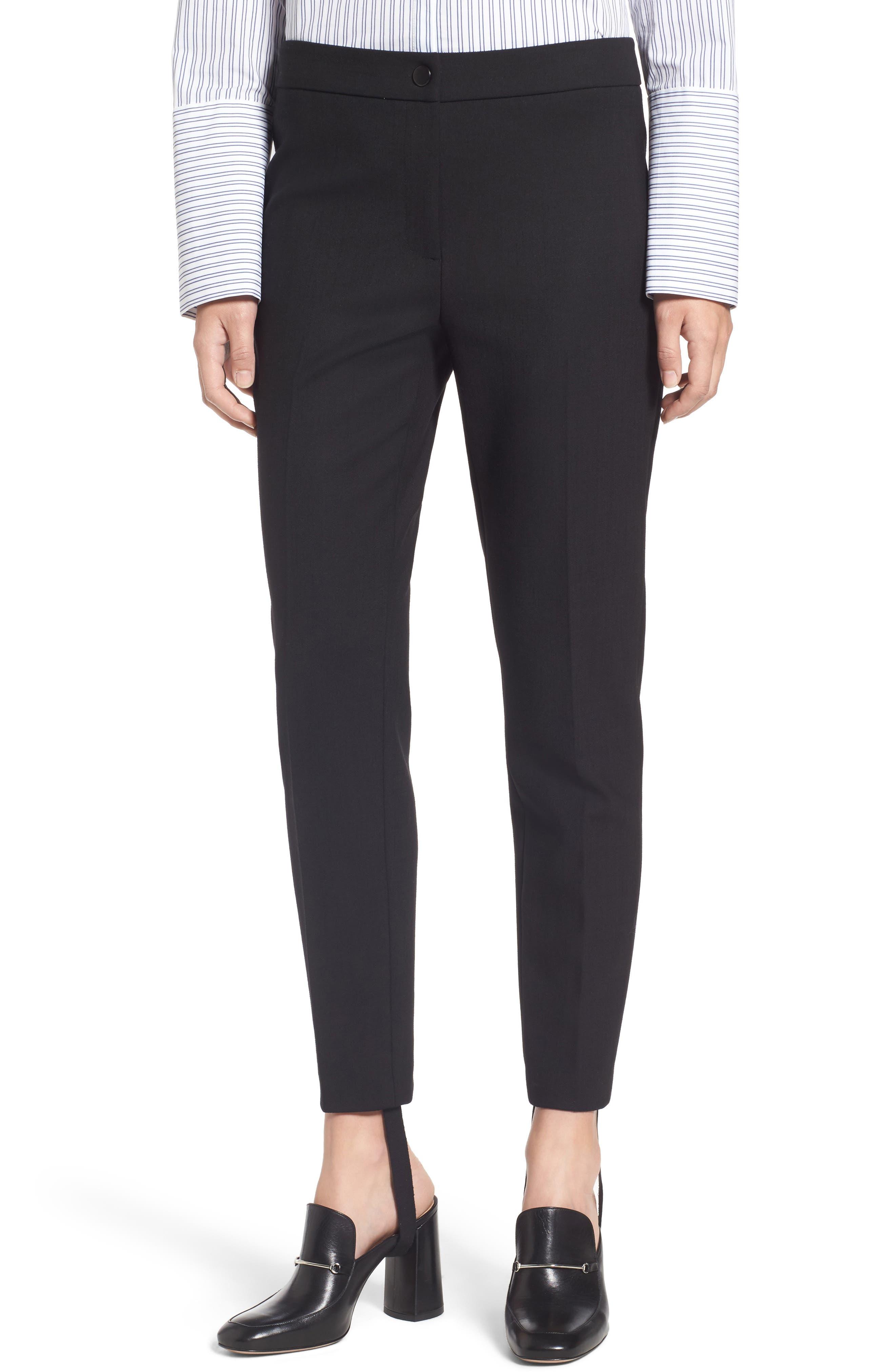 Removable Stirrup Pants,                         Main,                         color, Black