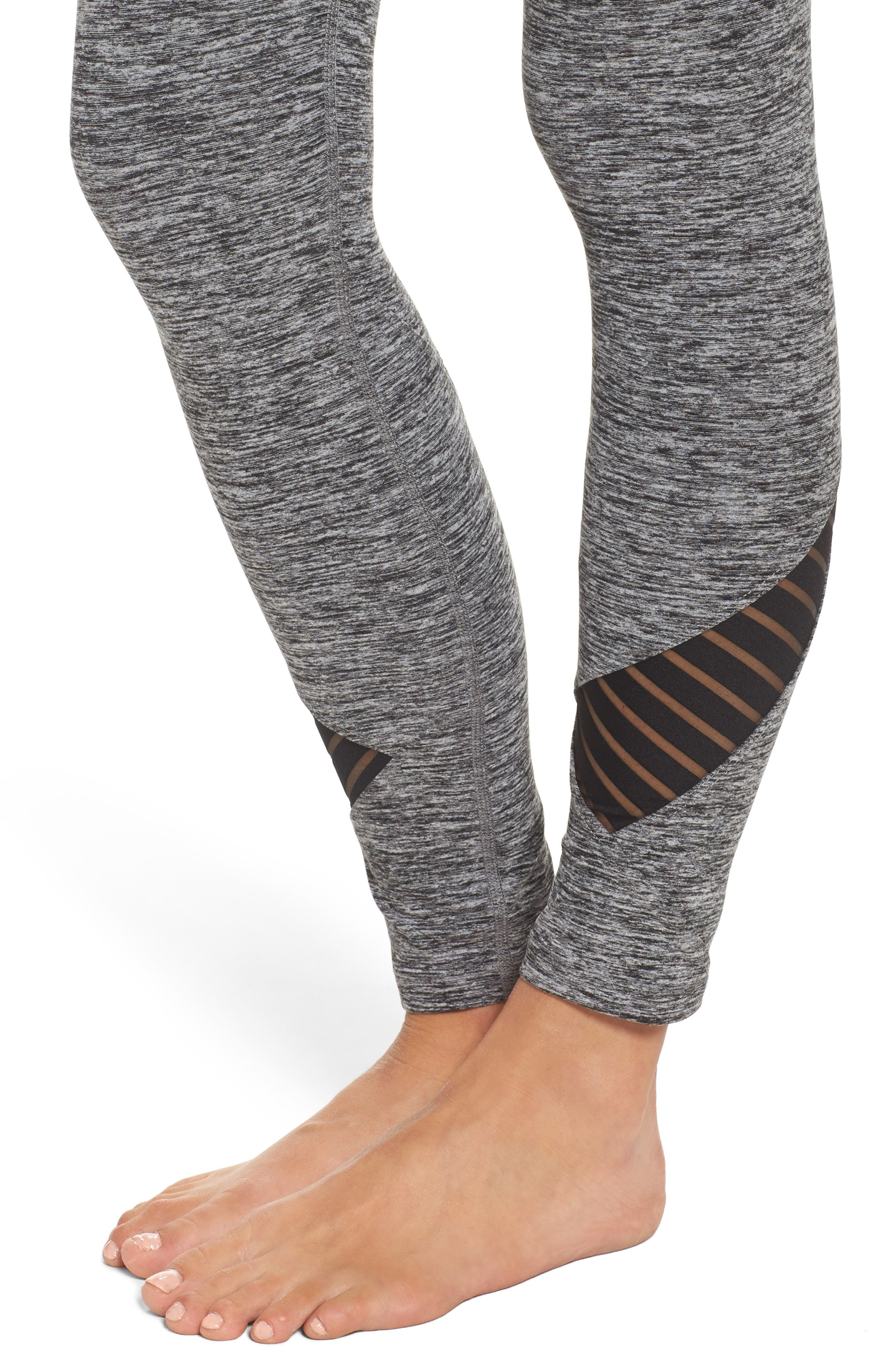 Alternate Image 4  - Beyond Yoga Stacked & Sliced High Waist Leggings