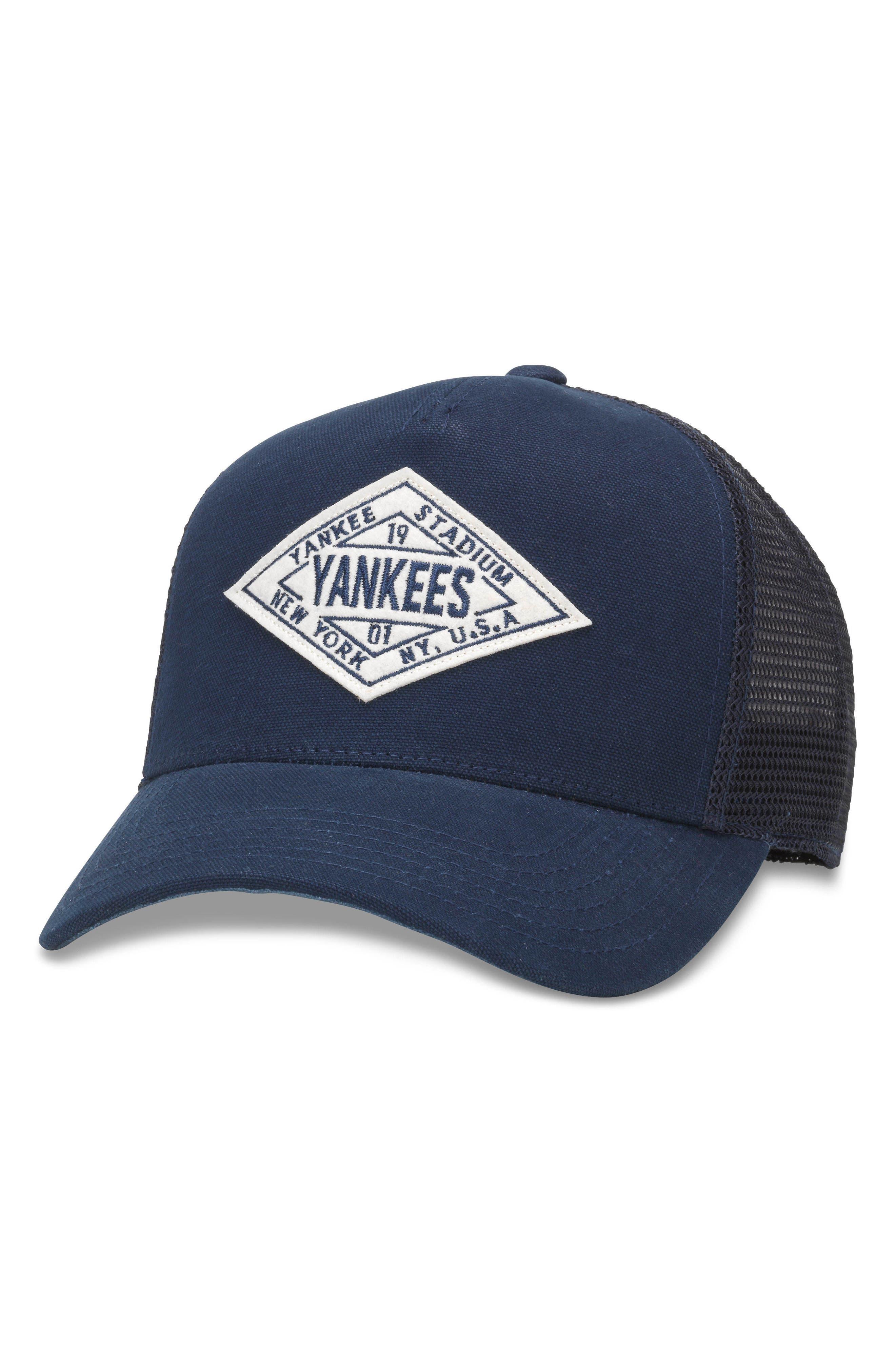 Valin MLB Trucker Hat,                             Main thumbnail 1, color,                             Yankees