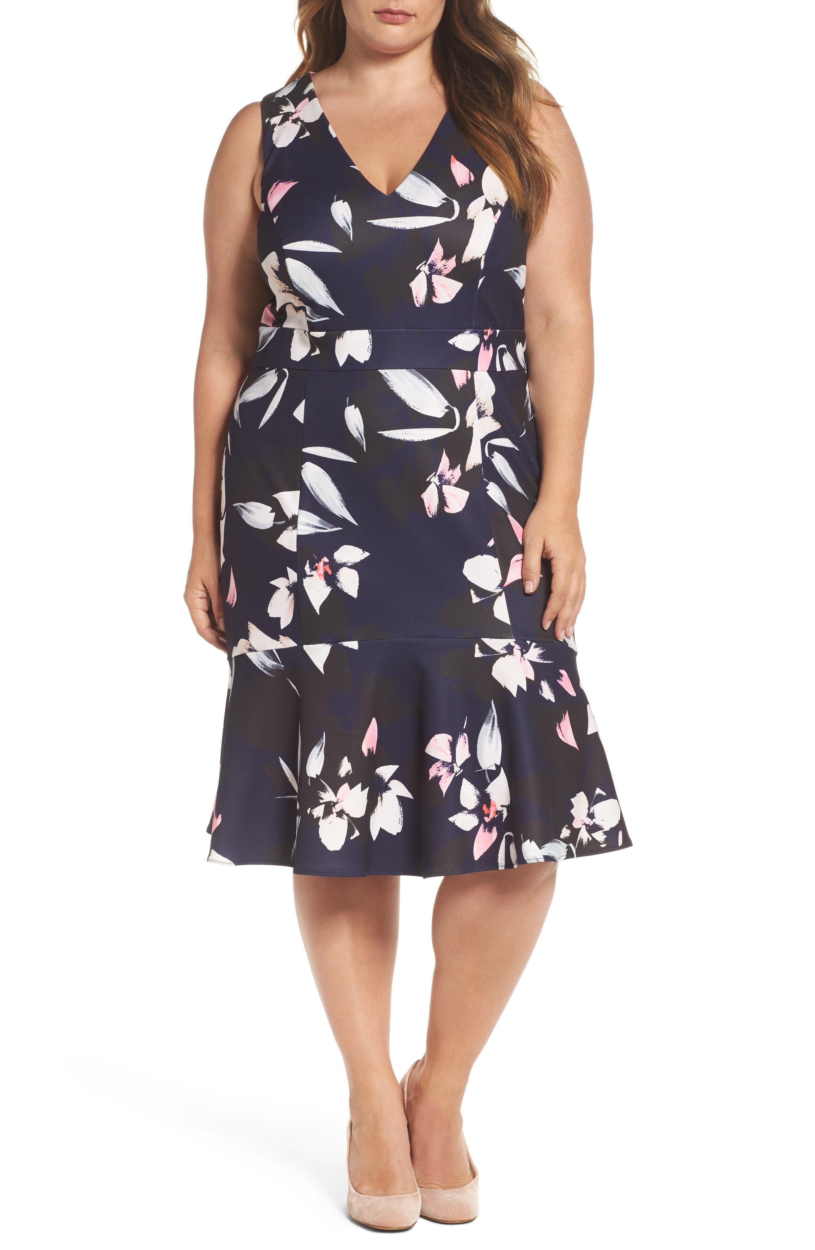 Sheath Dress,                         Main,                         color, Blue Multi